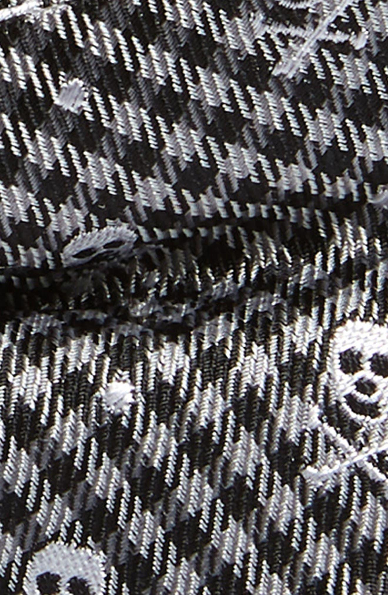 Skull Silk Bow Tie,                             Alternate thumbnail 2, color,                             GREY