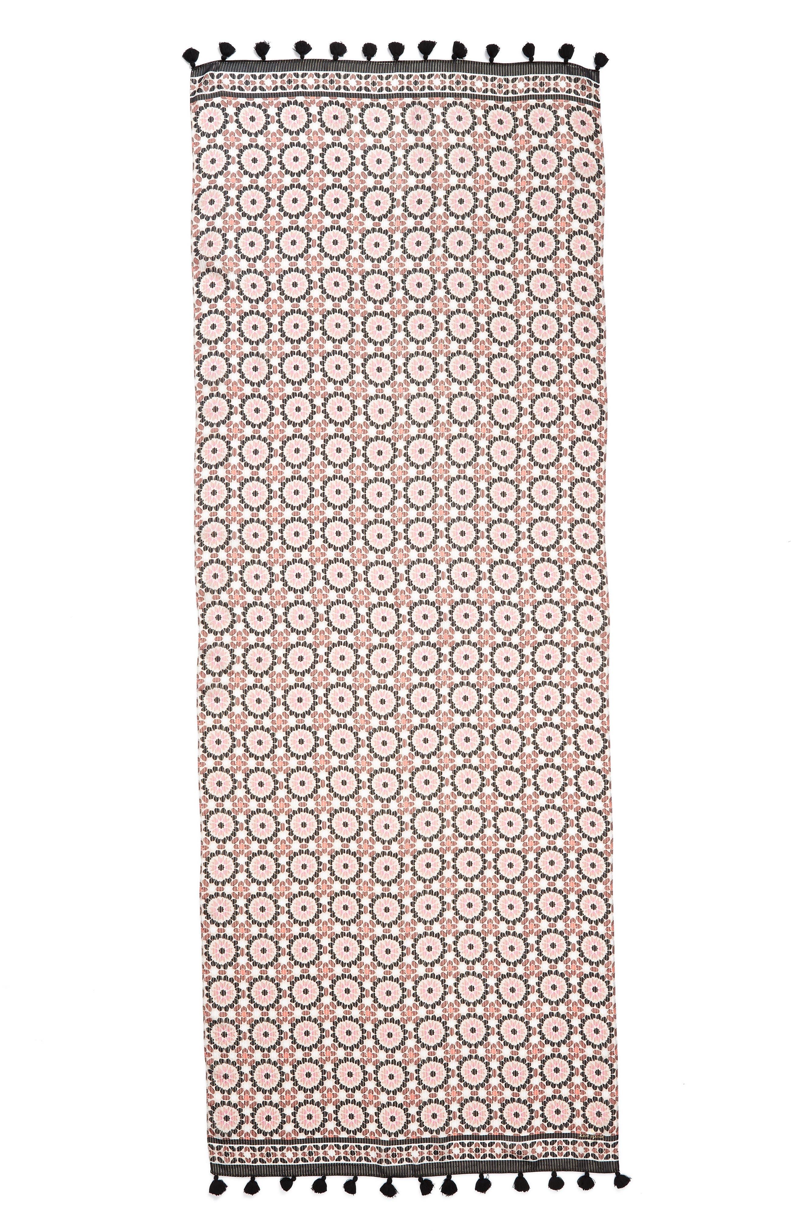floral mosaic scarf,                             Alternate thumbnail 3, color,                             650