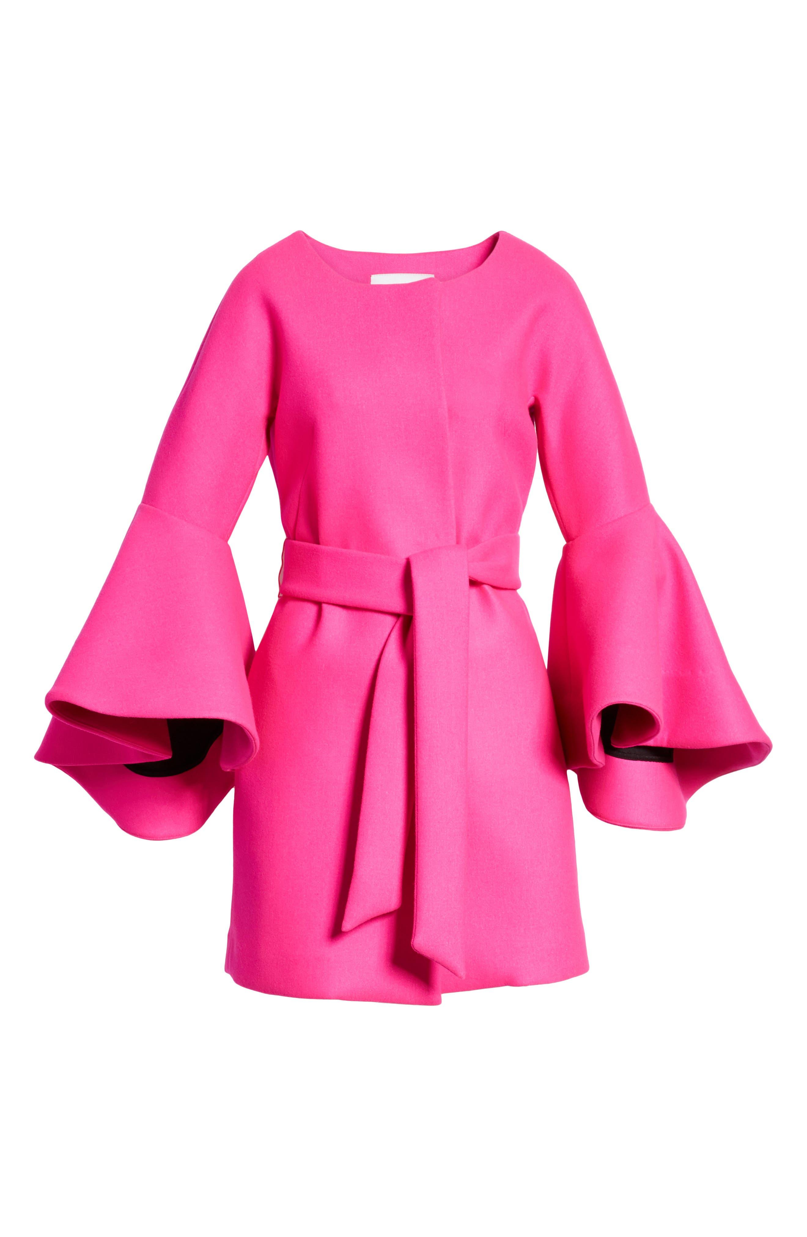 Melton Bonded Coat,                             Alternate thumbnail 5, color,                             662