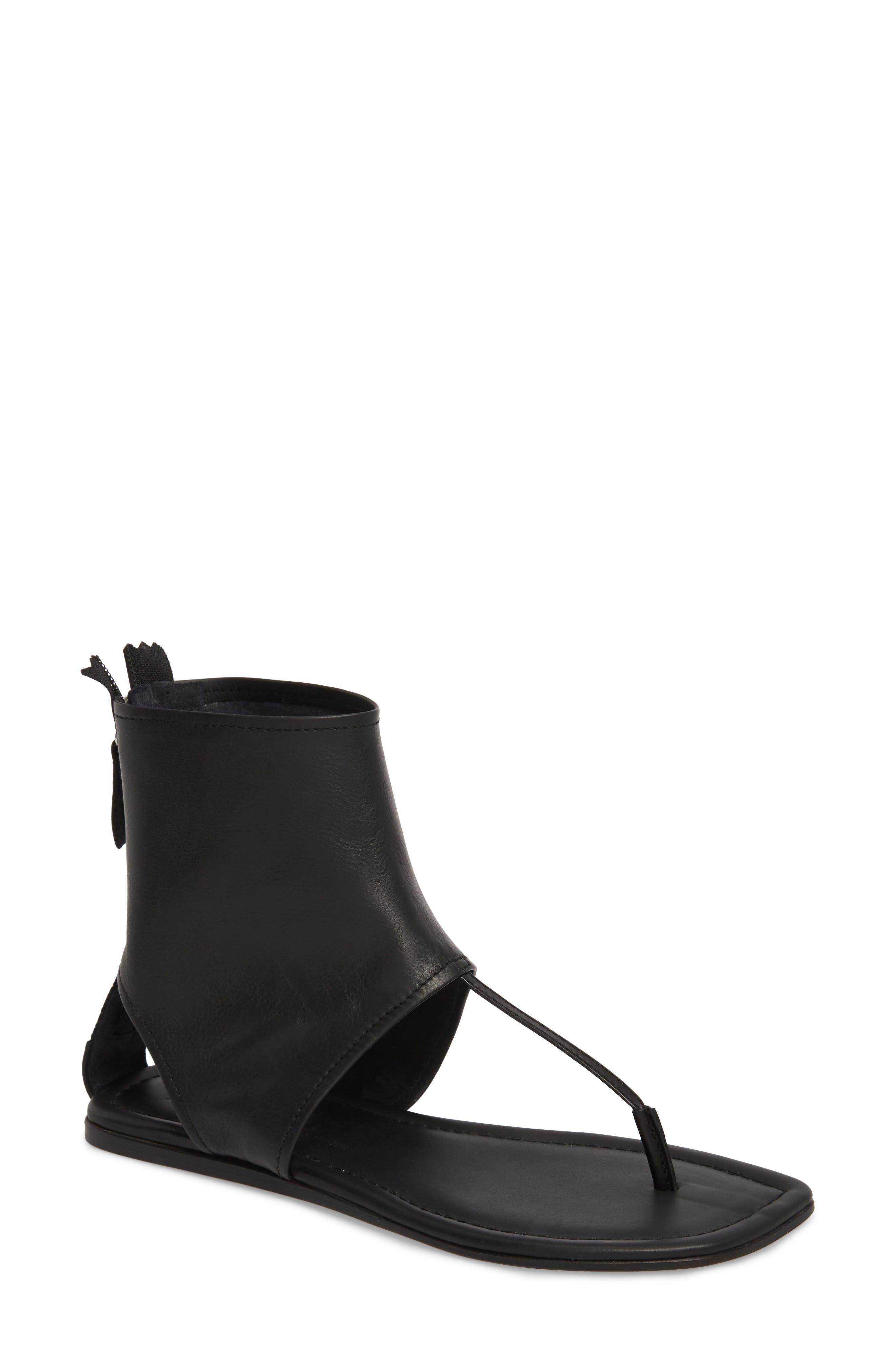 Ankle Shield Thong Sandal,                             Main thumbnail 1, color,                             001