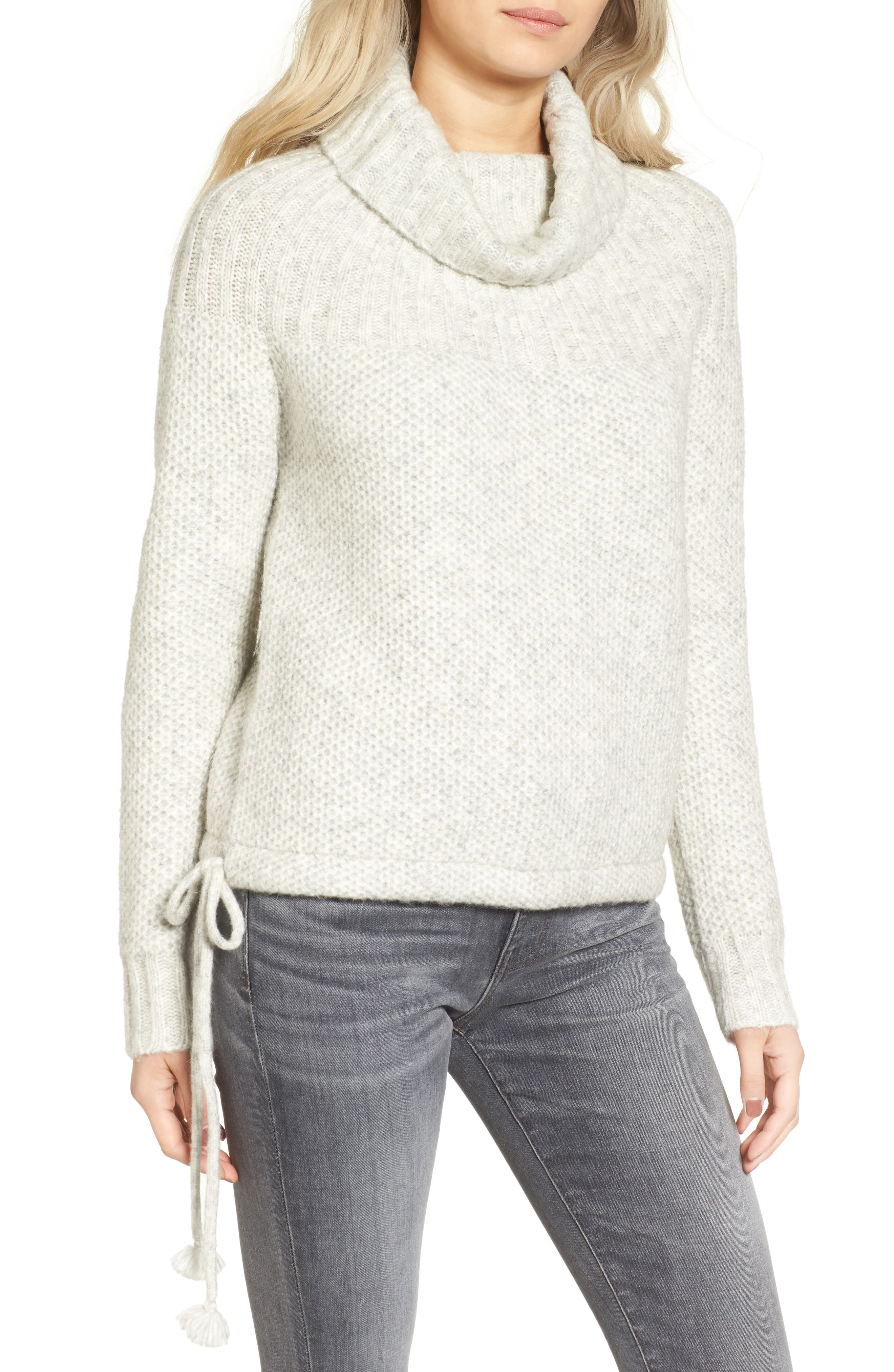 Drawcord Cowl Sweater,                         Main,                         color, 020