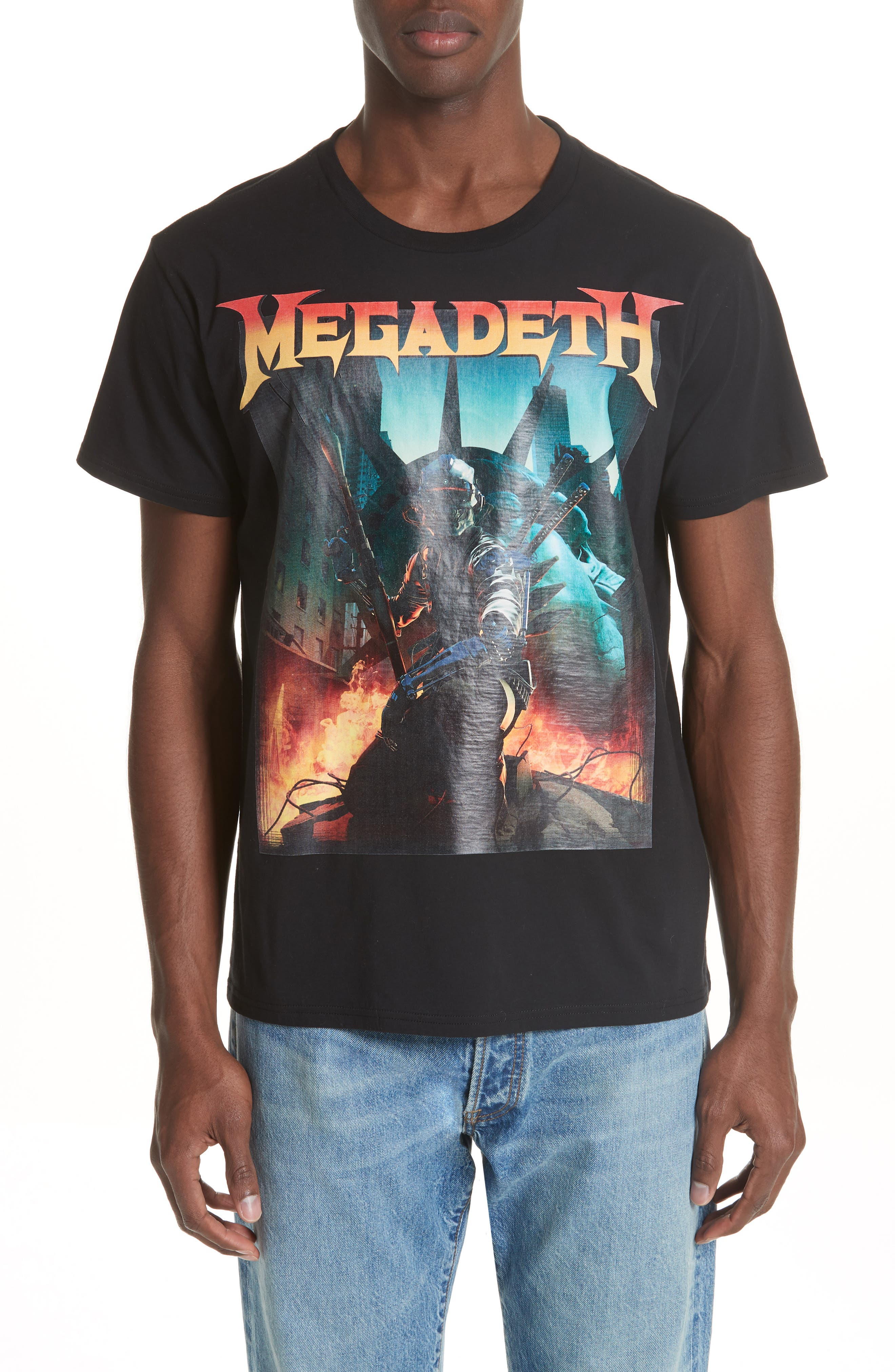Megadeth Graphic Oversize T-Shirt,                             Main thumbnail 1, color,                             001