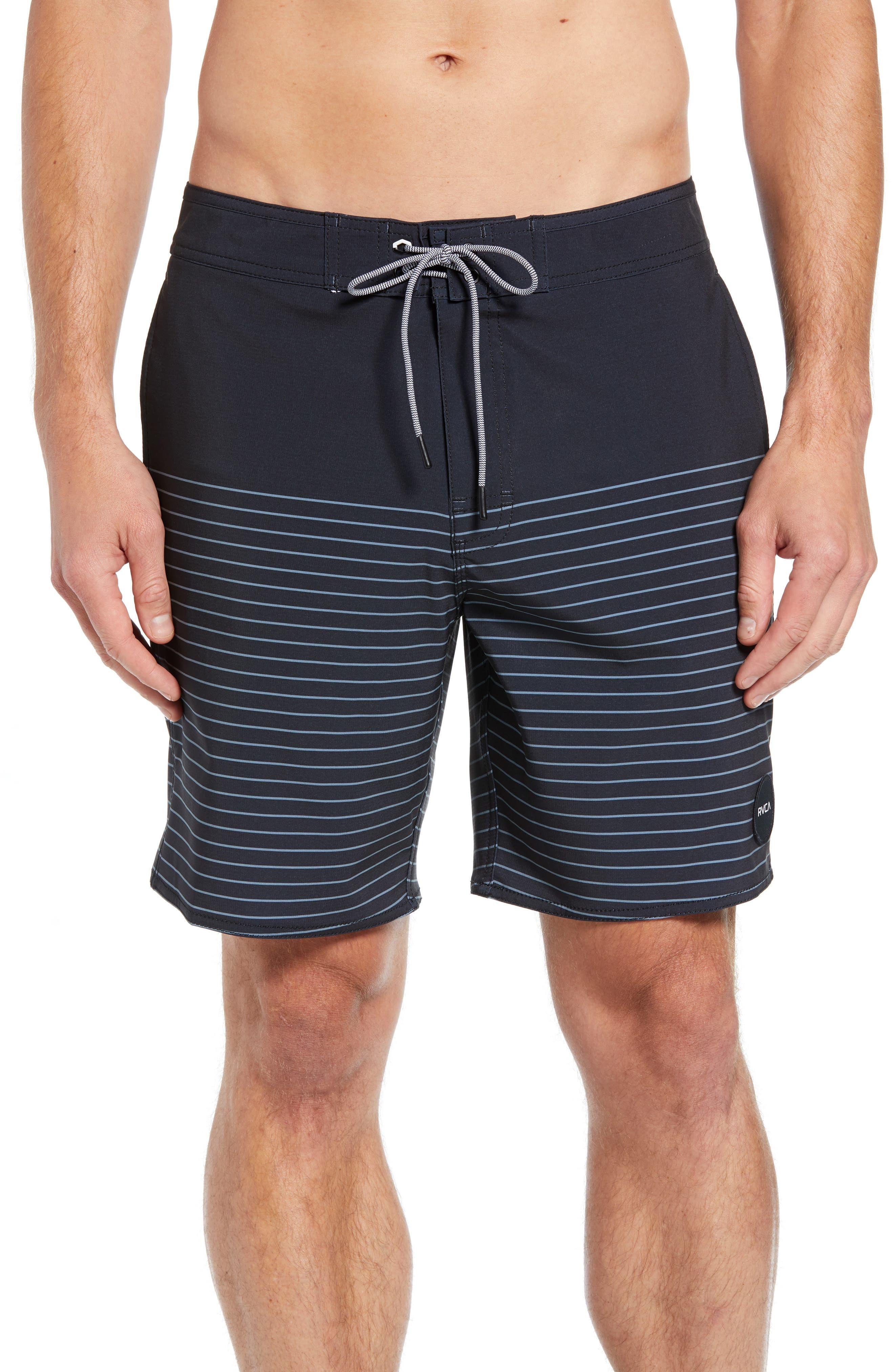 Curren Swim Trunks,                         Main,                         color, RVCA BLACK