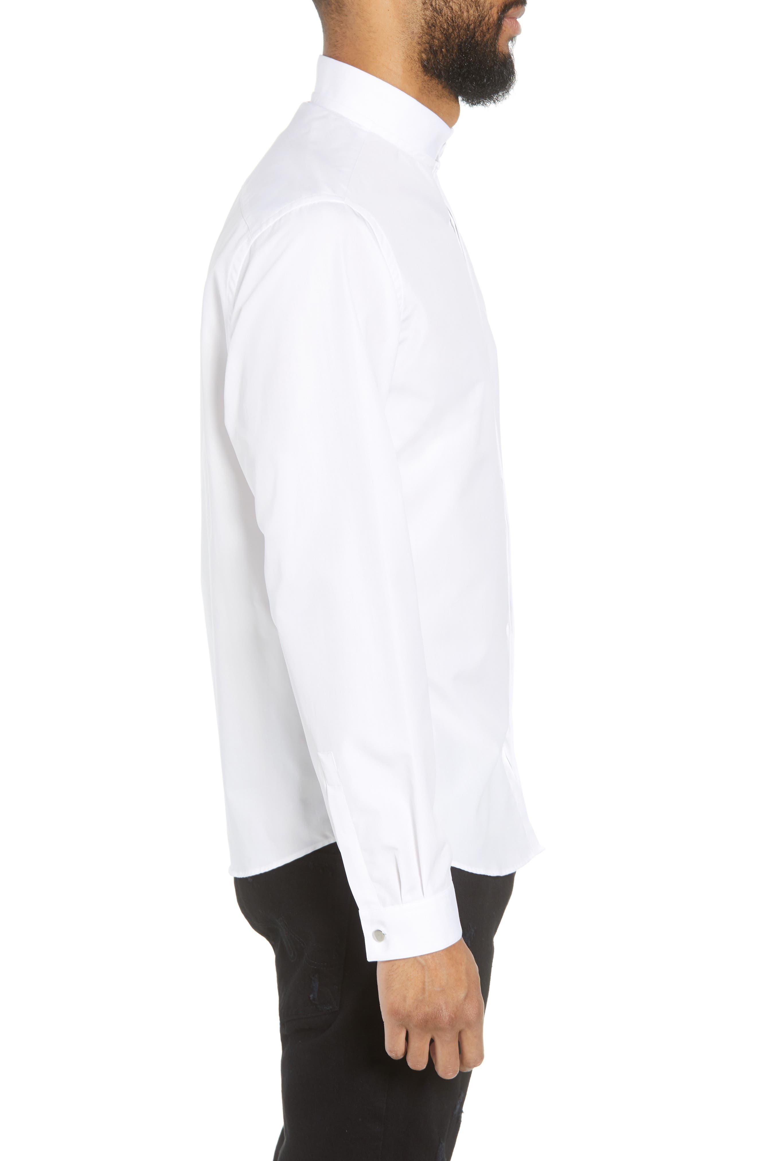 Slim Fit Solid Shirt,                             Alternate thumbnail 3, color,                             100