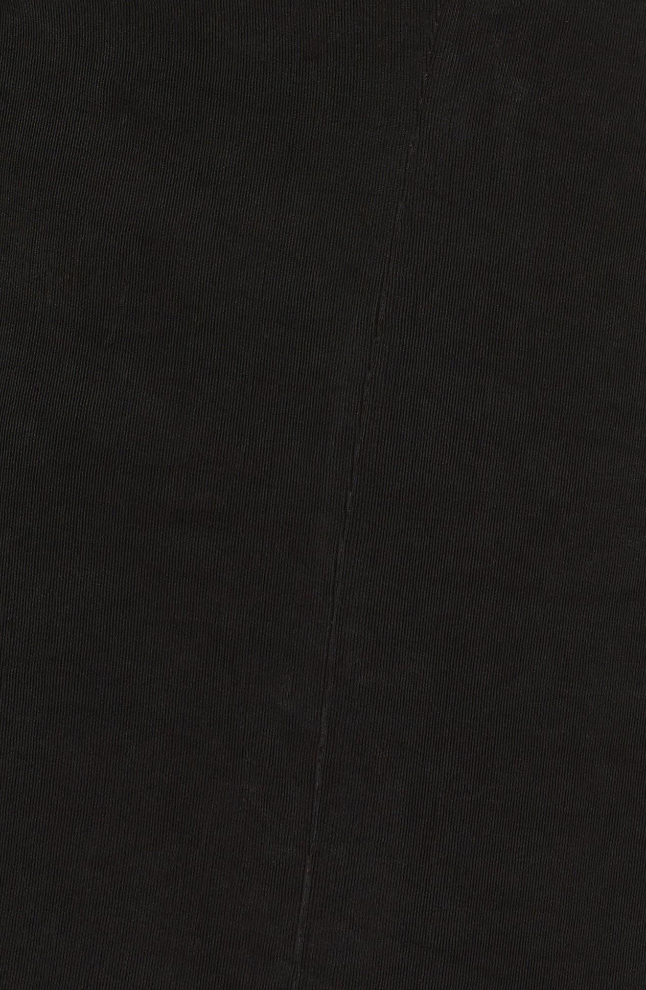 One-Button Stretch Knit Blazer,                             Alternate thumbnail 6, color,                             BLACK