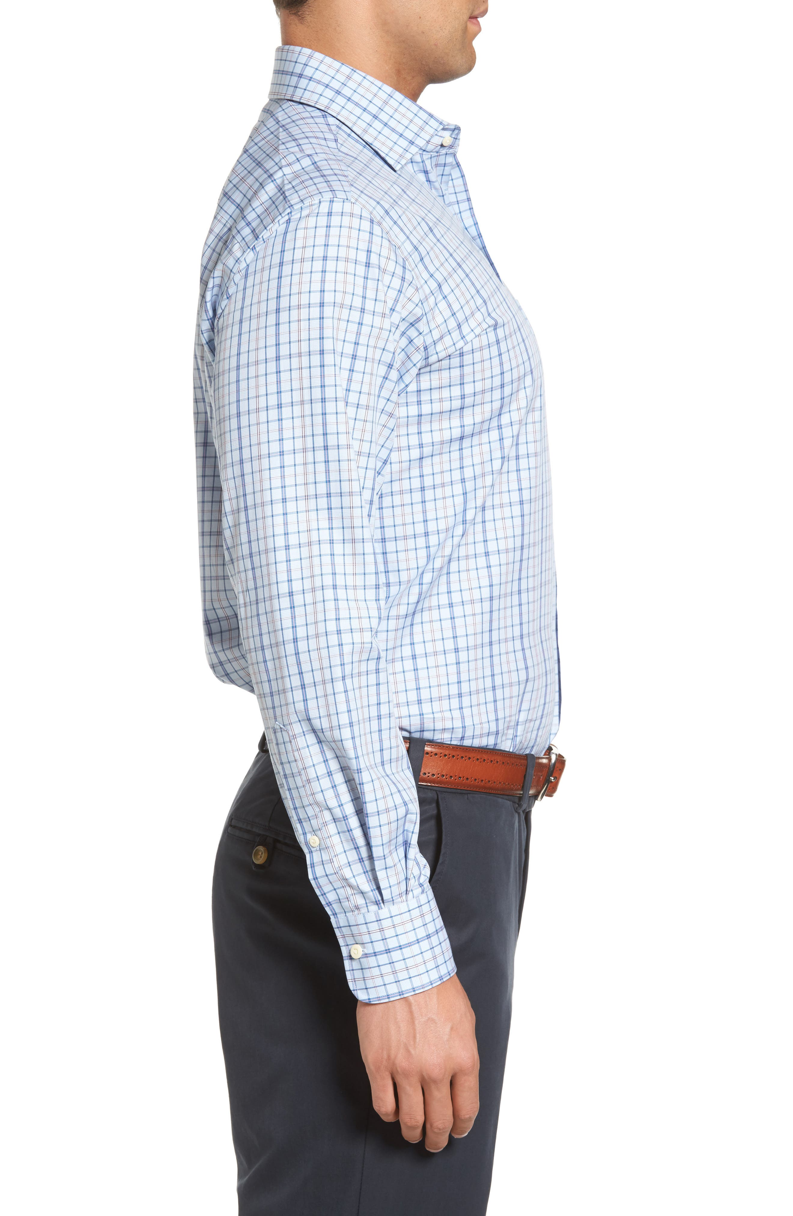 Coastland Regular Fit Plaid Sport Shirt,                             Alternate thumbnail 3, color,                             437