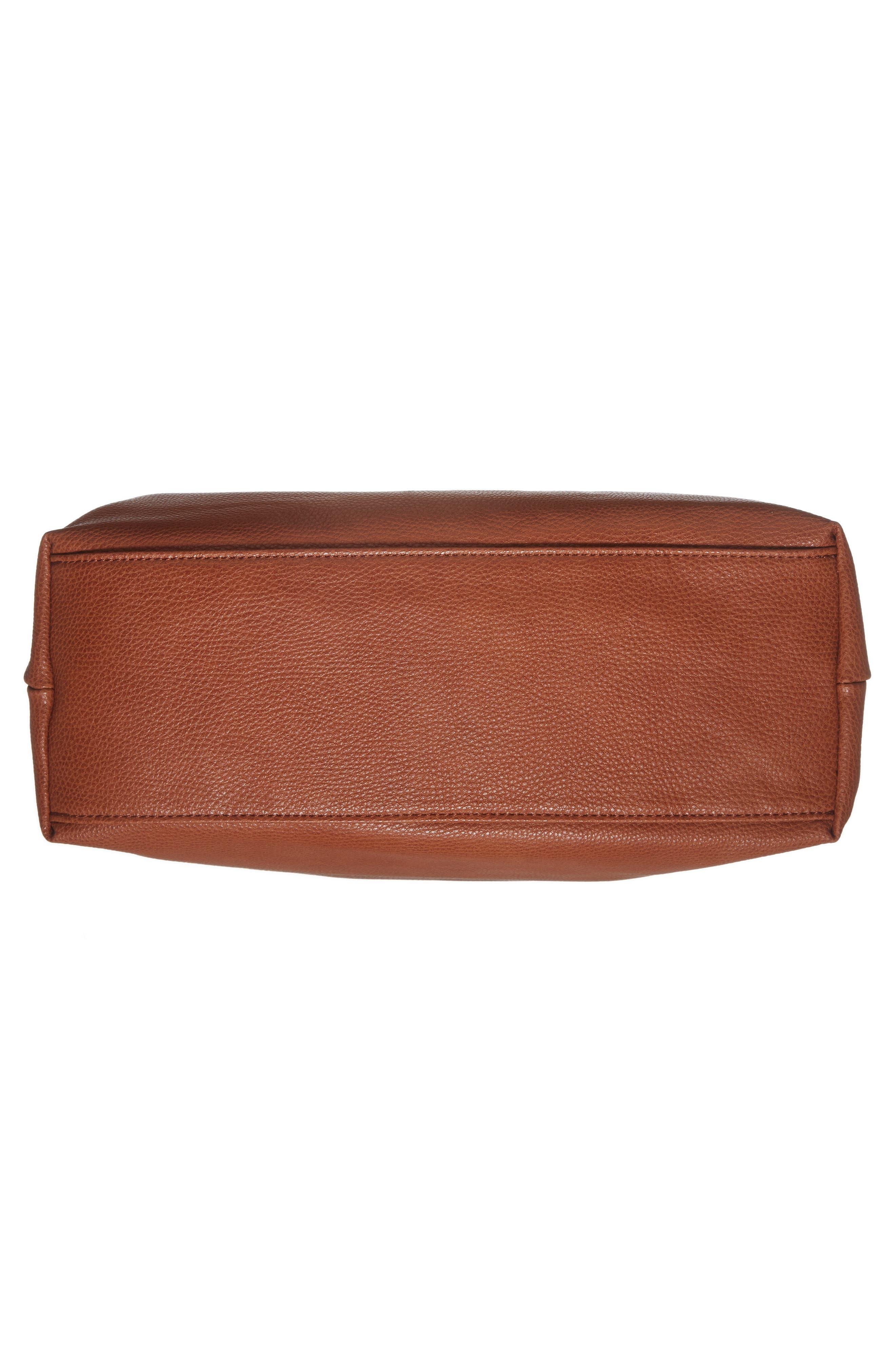 Taylor Faux Leather Shoulder Bag,                             Alternate thumbnail 18, color,