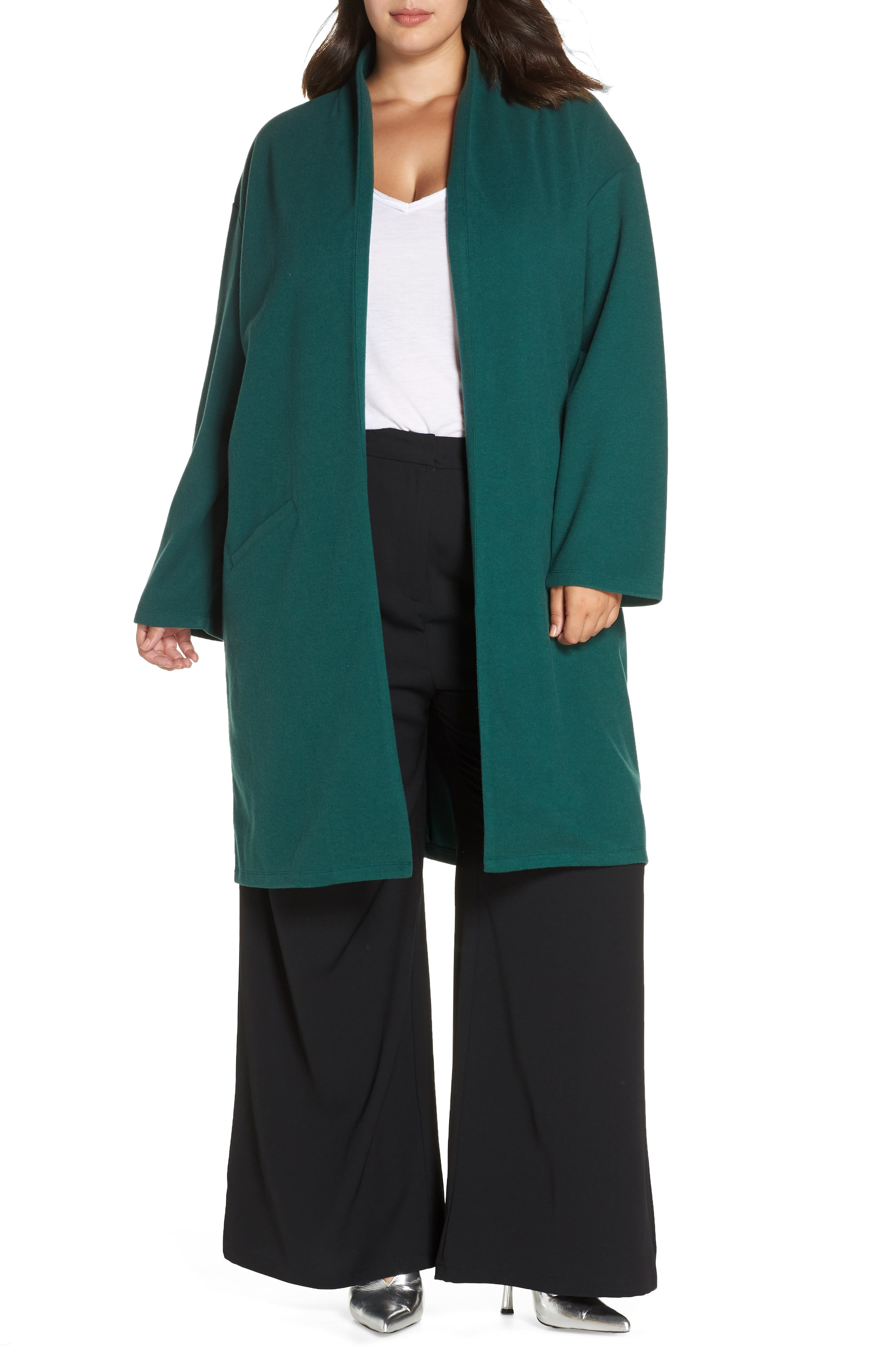 Open Front Midi Coat,                             Main thumbnail 1, color,                             301