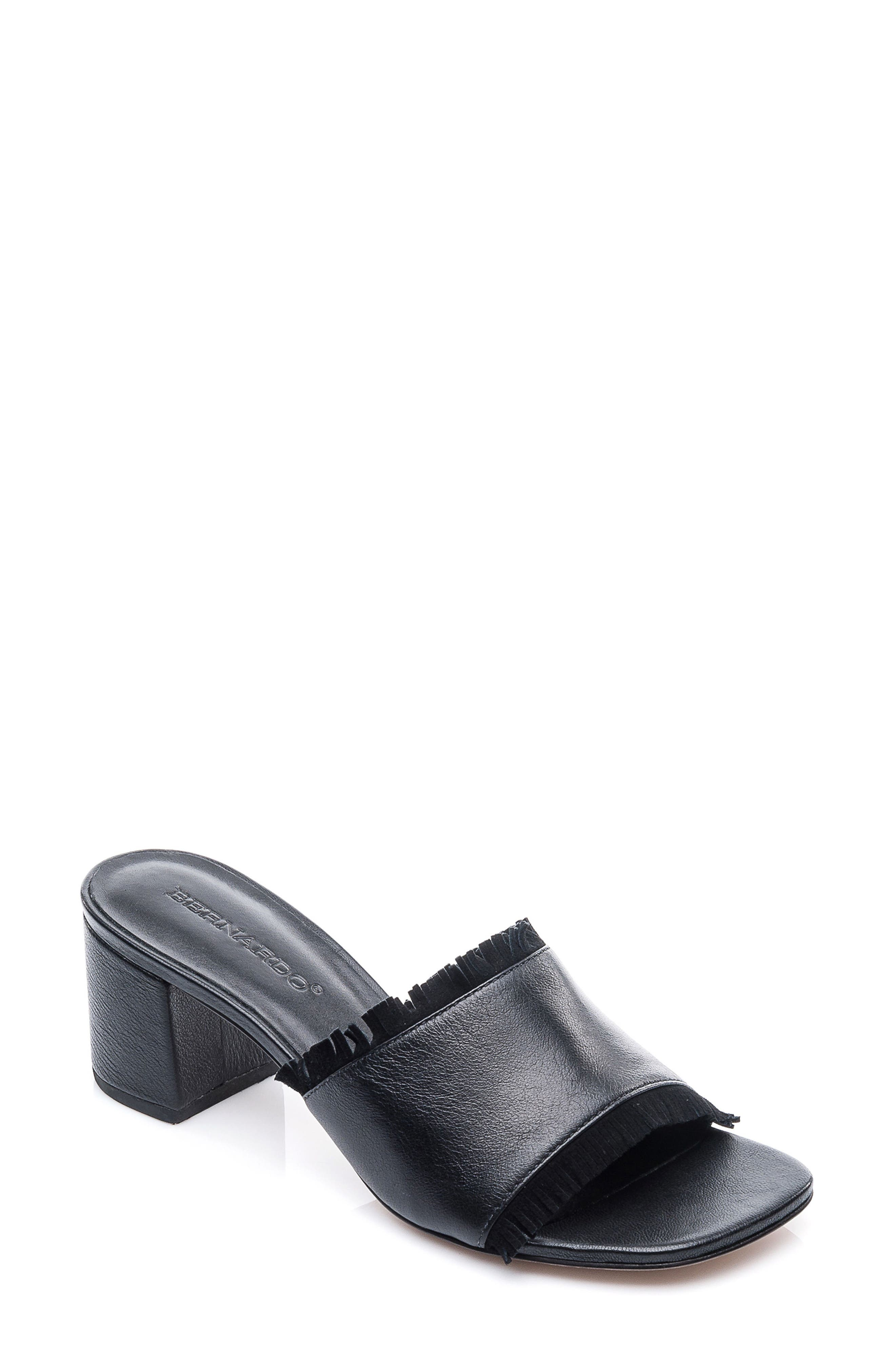 Bernardo Blossom Slide Sandal,                             Main thumbnail 1, color,                             001