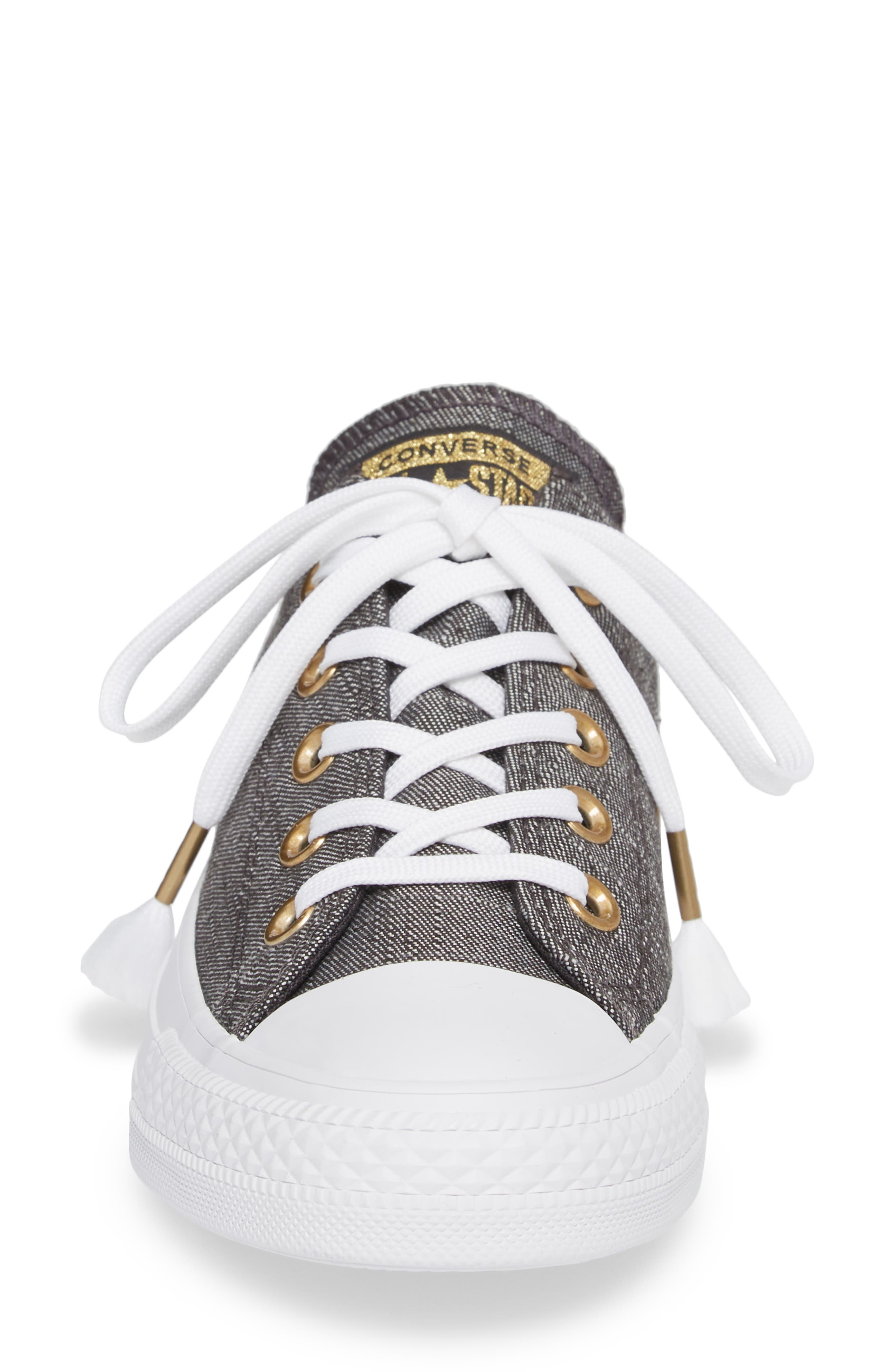 Chuck Taylor<sup>®</sup> All Star<sup>®</sup> Washed Linen Low Top Sneaker,                             Alternate thumbnail 4, color,                             006