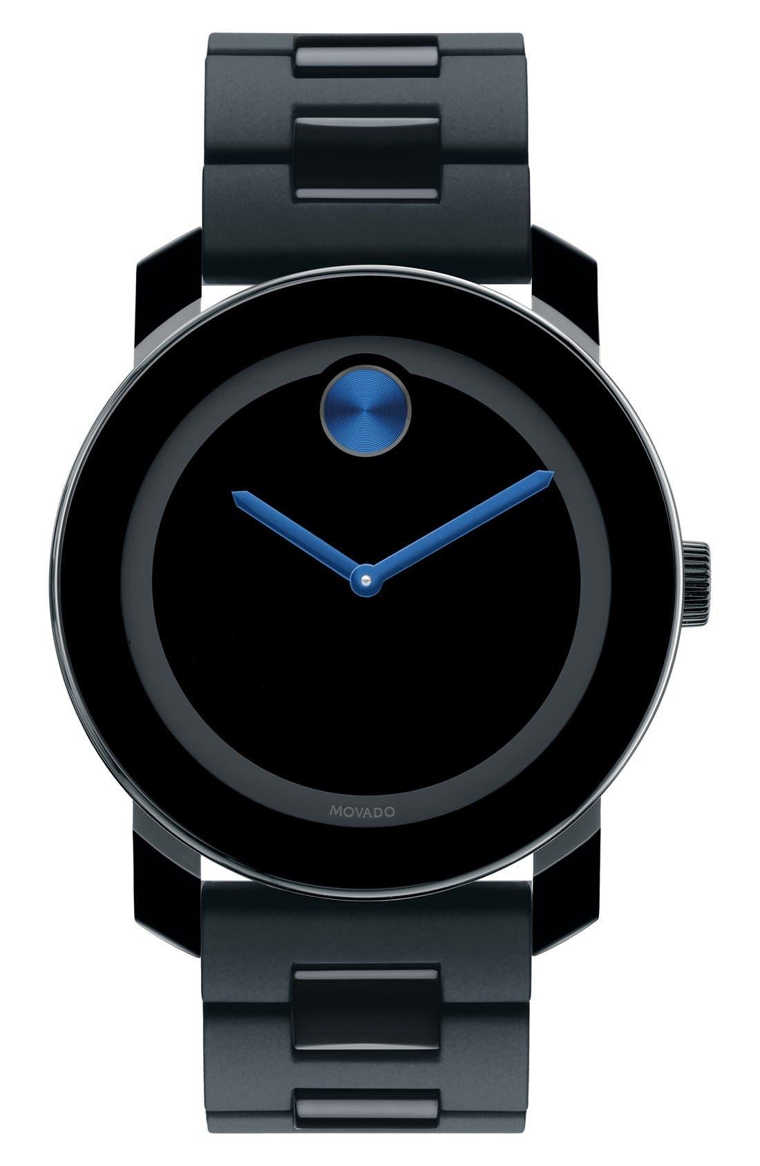 'Large Bold' Bracelet Watch, 42mm,                             Main thumbnail 1, color,                             BLACK