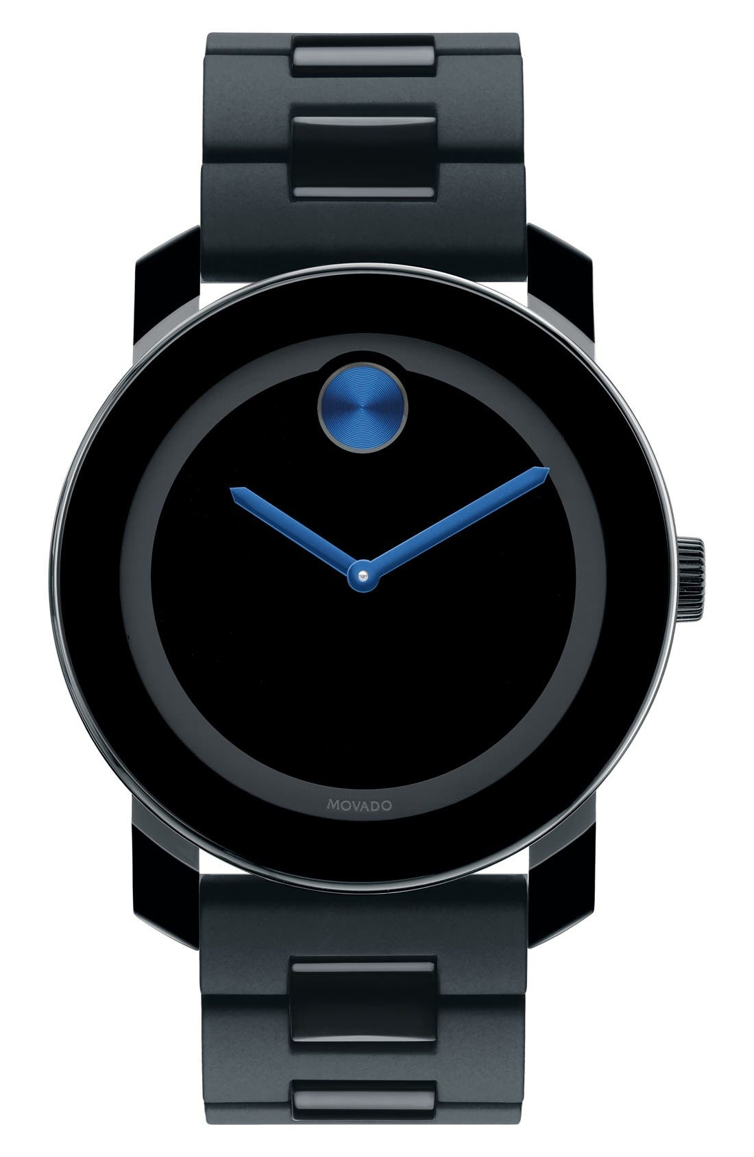 'Large Bold' Bracelet Watch, 42mm,                         Main,                         color, BLACK