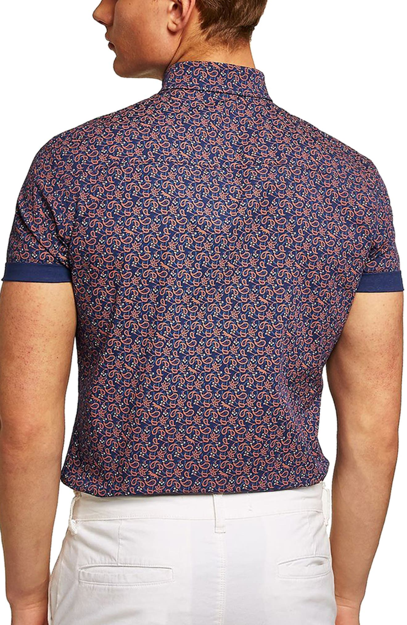 TOPMAN,                             Muscle Fit Eclectic Paisley Print Shirt,                             Alternate thumbnail 2, color,                             400