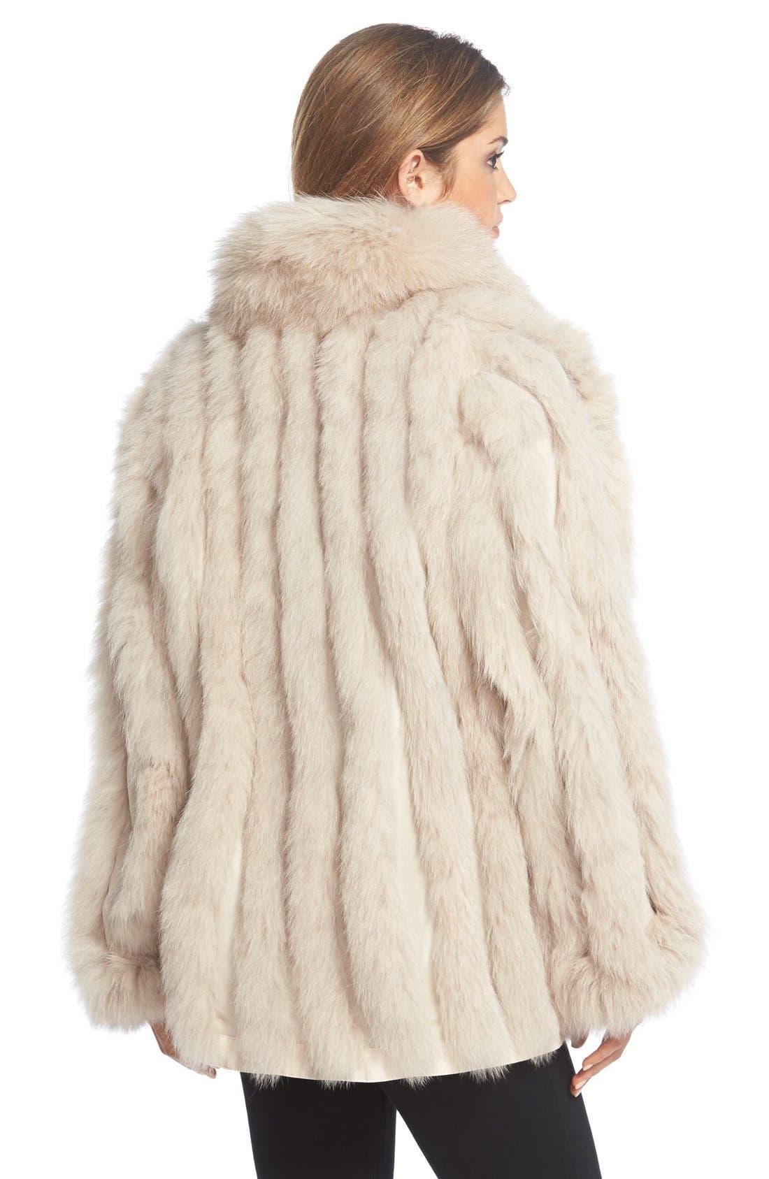 GeorgeSimonton Reversible Silk & Genuine Fox Fur Topper,                             Alternate thumbnail 10, color,