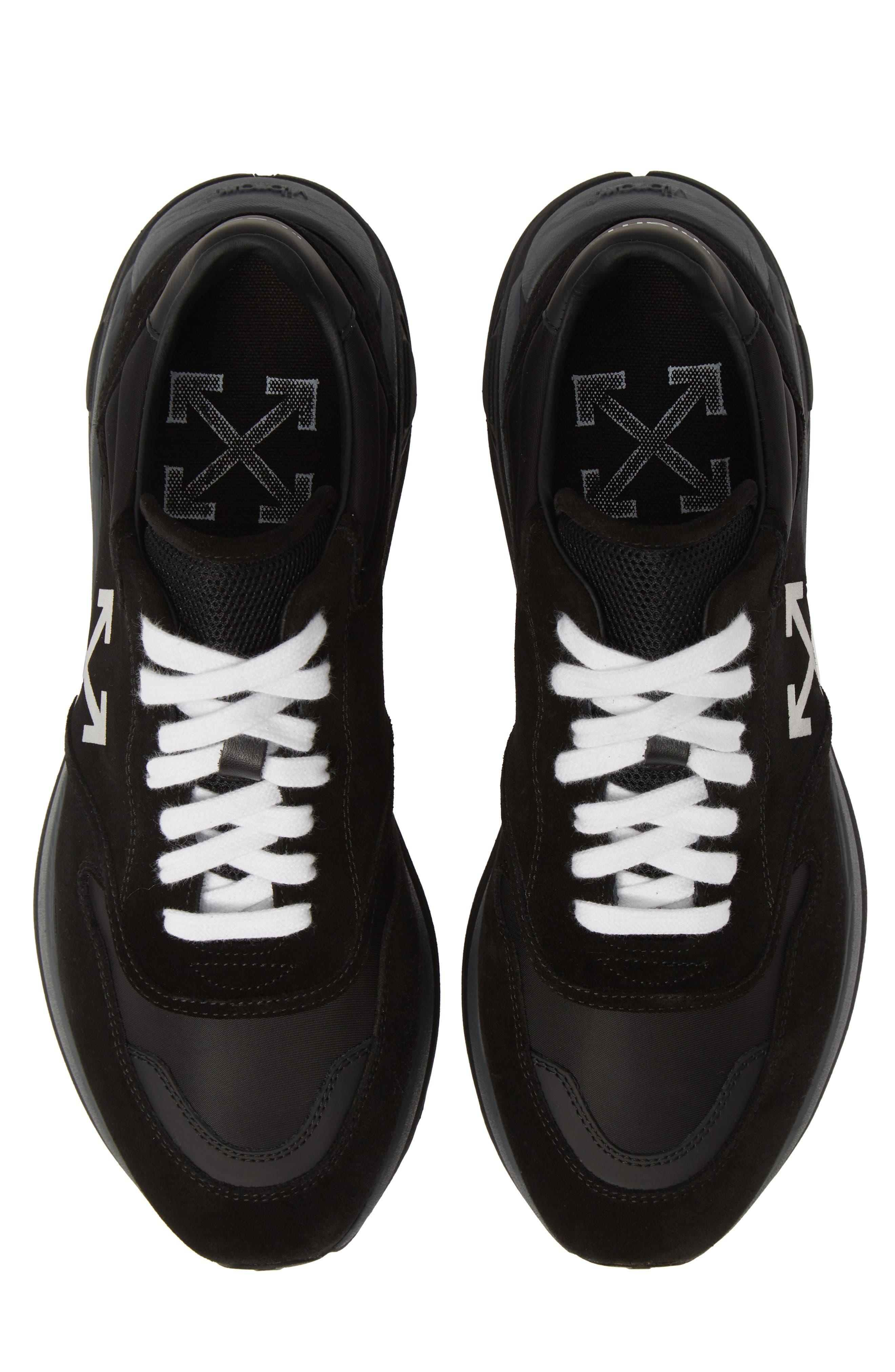 Jogger Sneaker, Main, color, BLACK/ WHITE