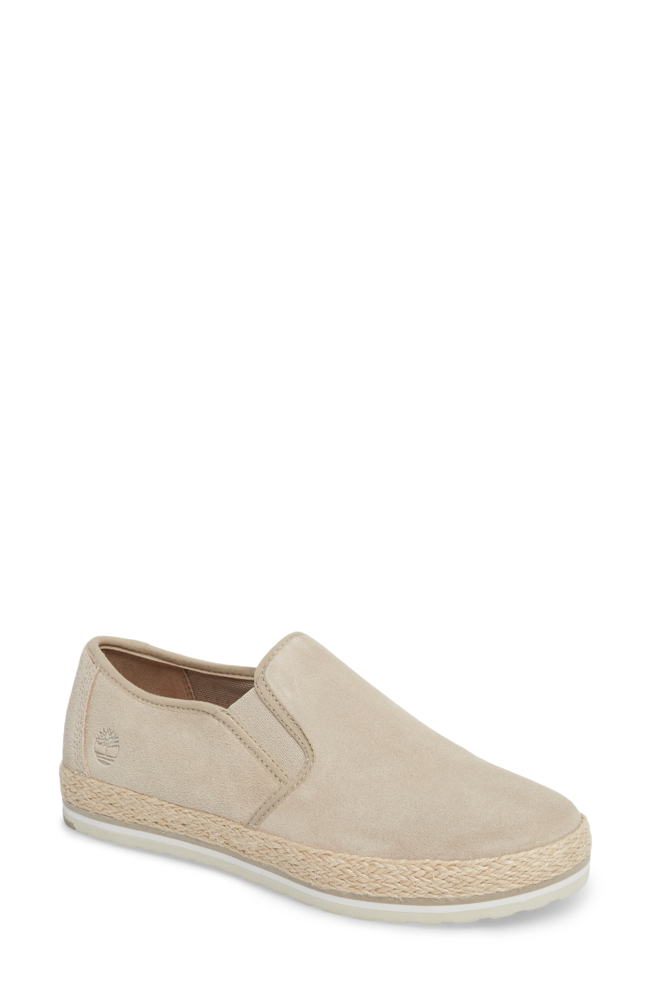 Eivissa Sea Slip-On Sneaker,                             Main thumbnail 1, color,                             LIGHT BEIGE LEATHER