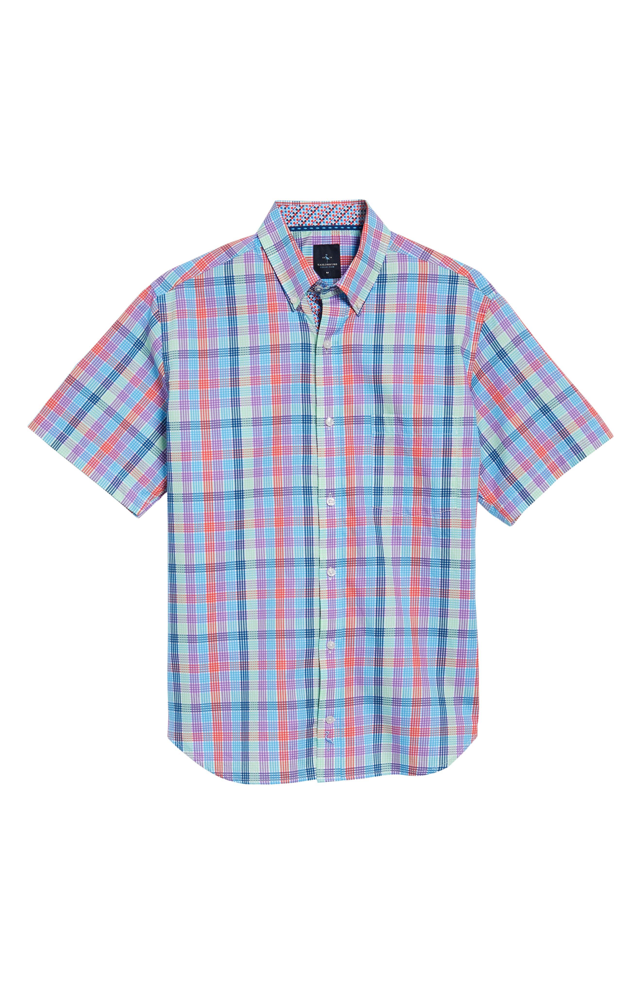 Slidell Regular Fit Check Sport Shirt,                             Alternate thumbnail 6, color,