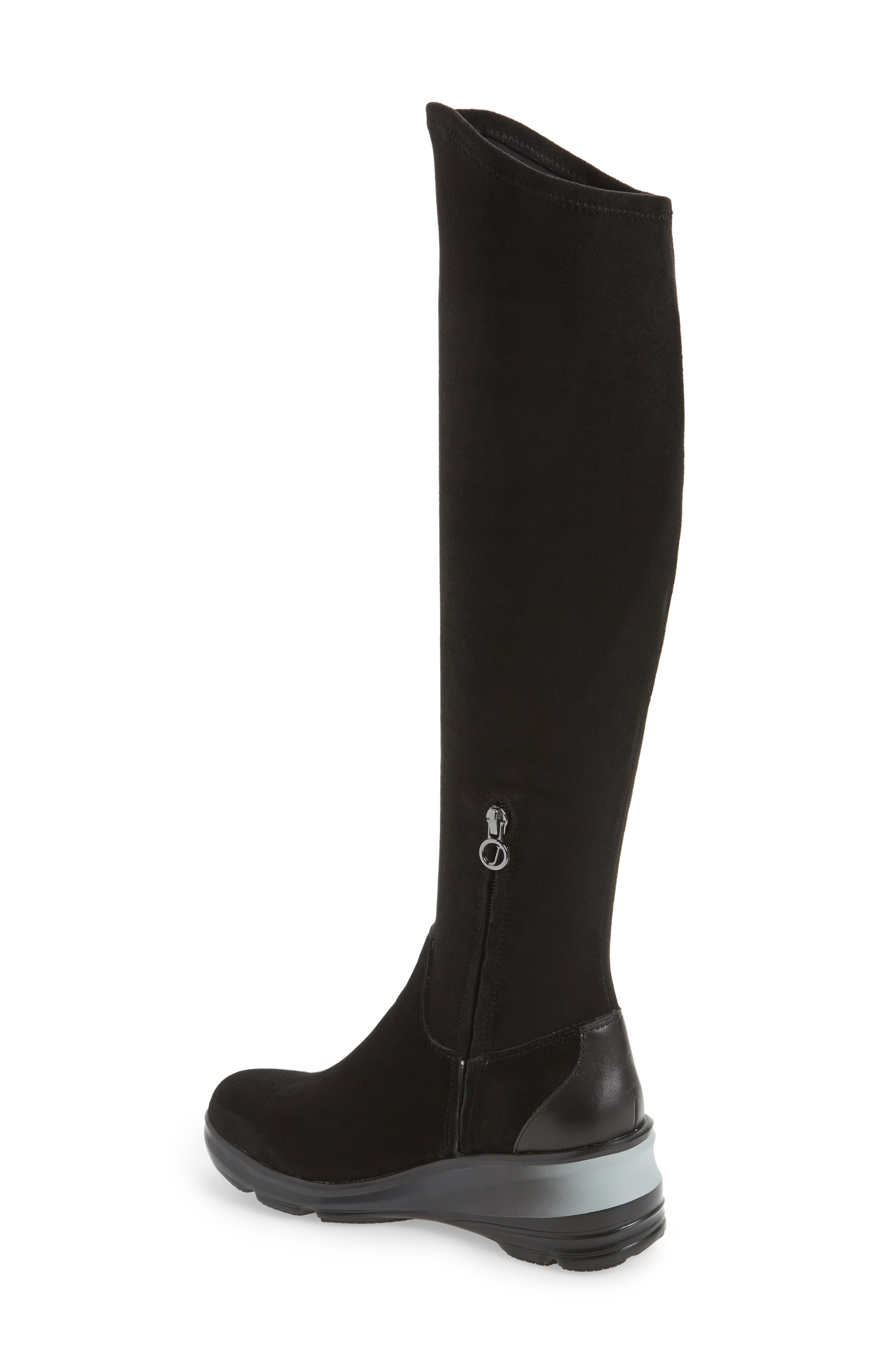 Kendra Over the Knee Water-Resistant Boot,                             Alternate thumbnail 2, color,                             001