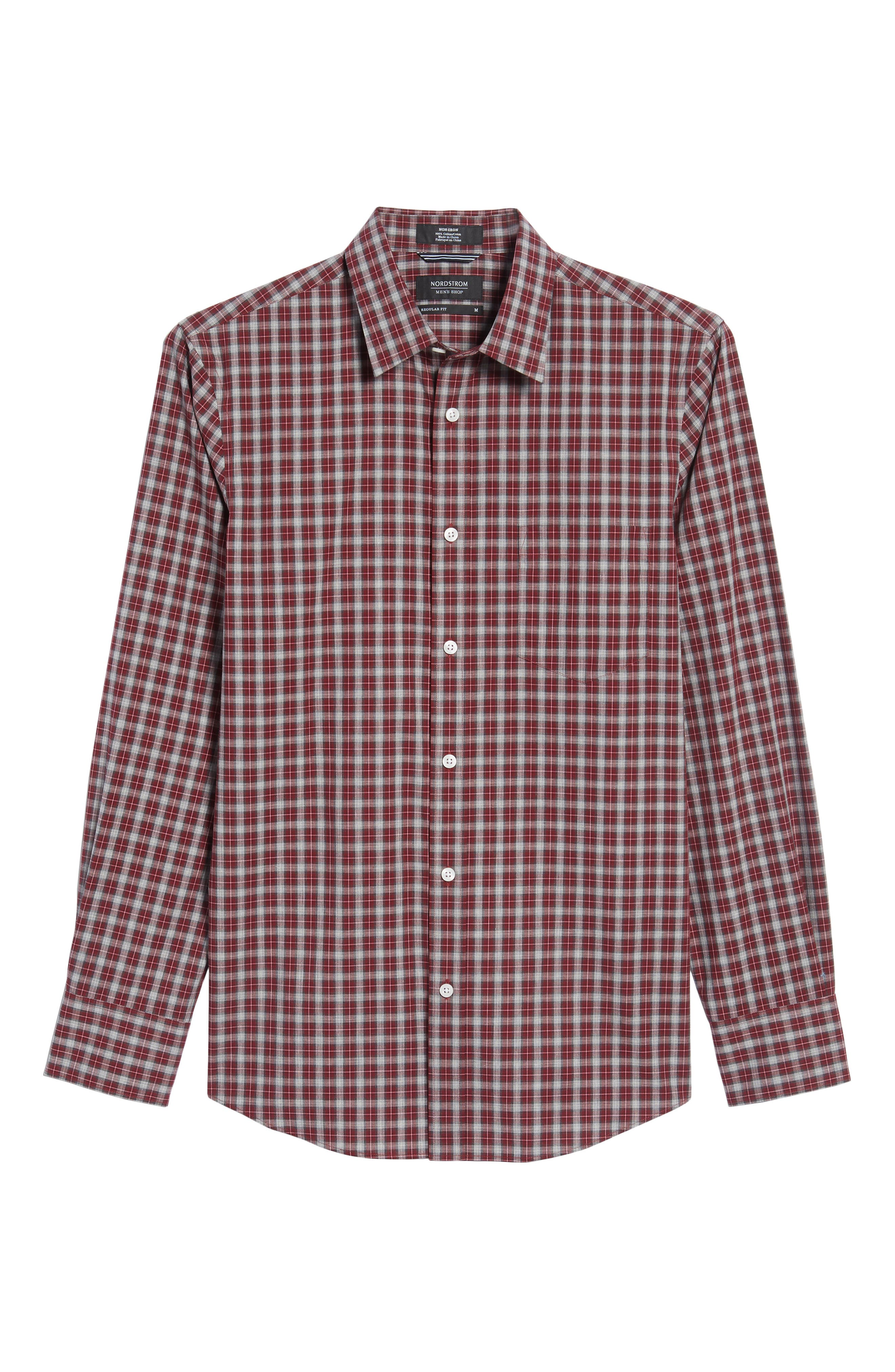 Regular Fit Non-Iron Check Sport Shirt,                             Alternate thumbnail 6, color,                             610