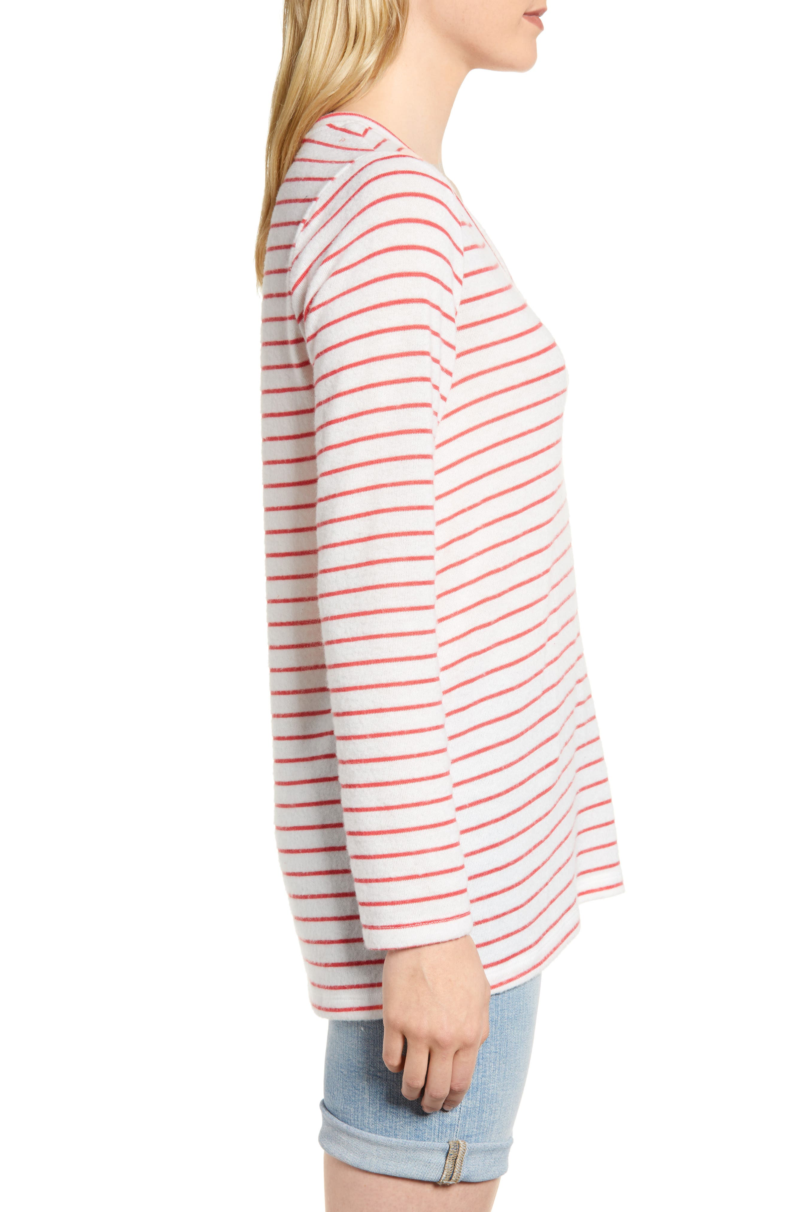 x Living in Yellow Steph Cozy Stripe Top,                             Alternate thumbnail 7, color,
