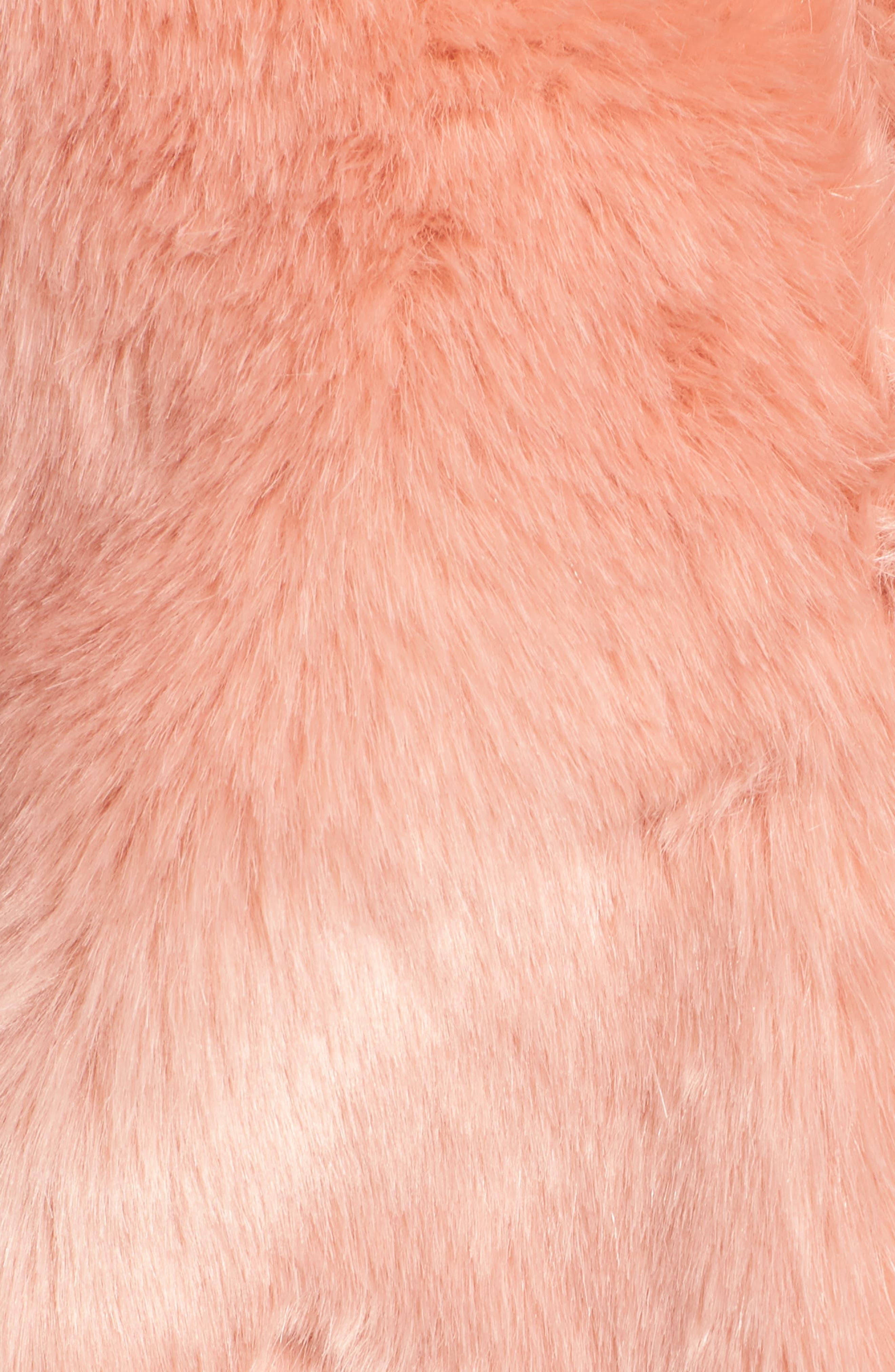 Boxy Faux Fur Coat,                             Alternate thumbnail 7, color,                             CHERRY BLOSSOM