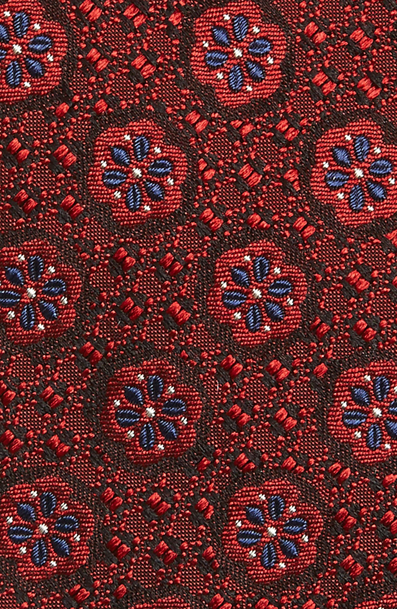 Medallion Silk Tie,                             Alternate thumbnail 2, color,                             608
