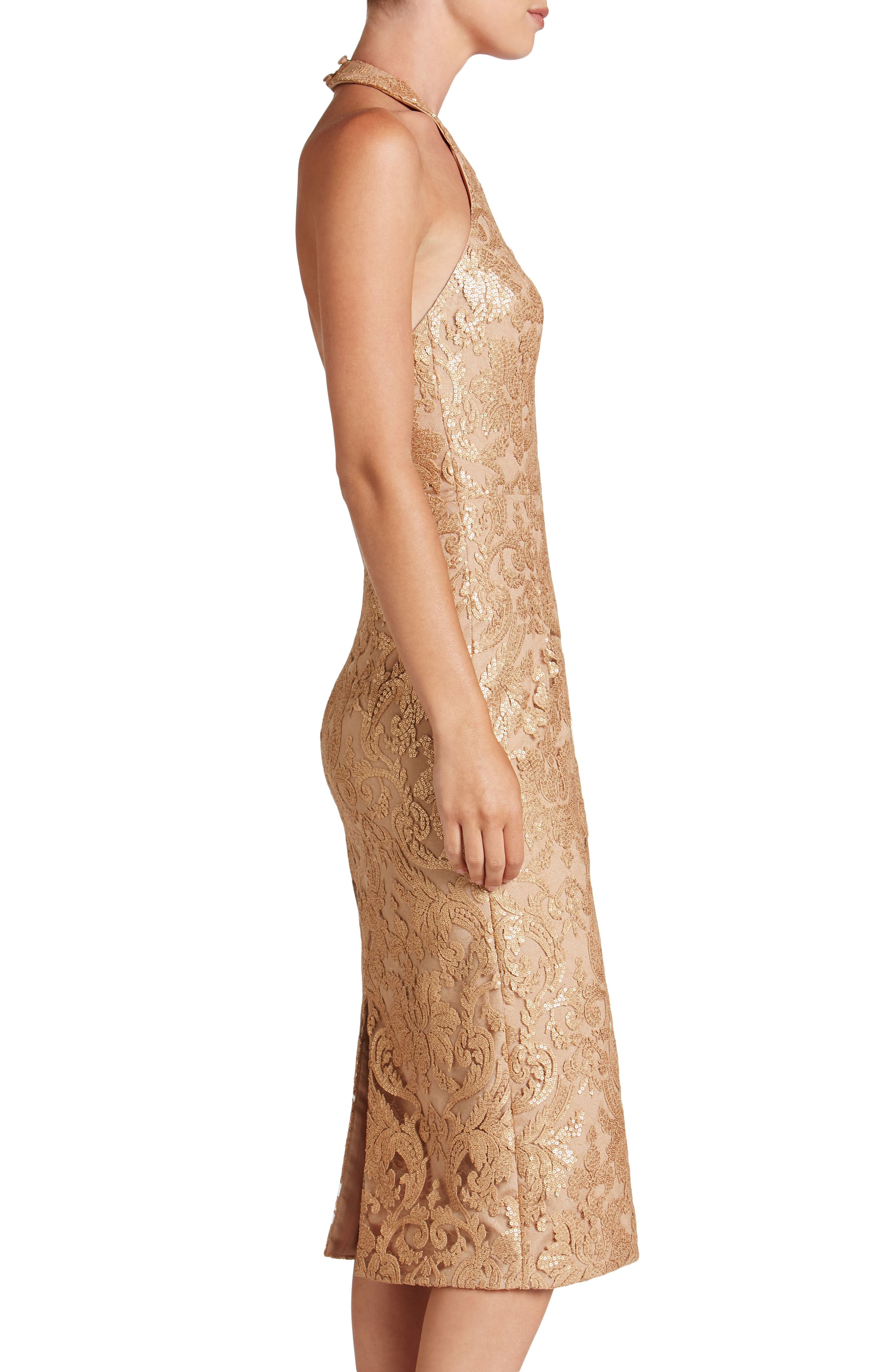 Cassie Sequin Midi Dress,                             Alternate thumbnail 20, color,