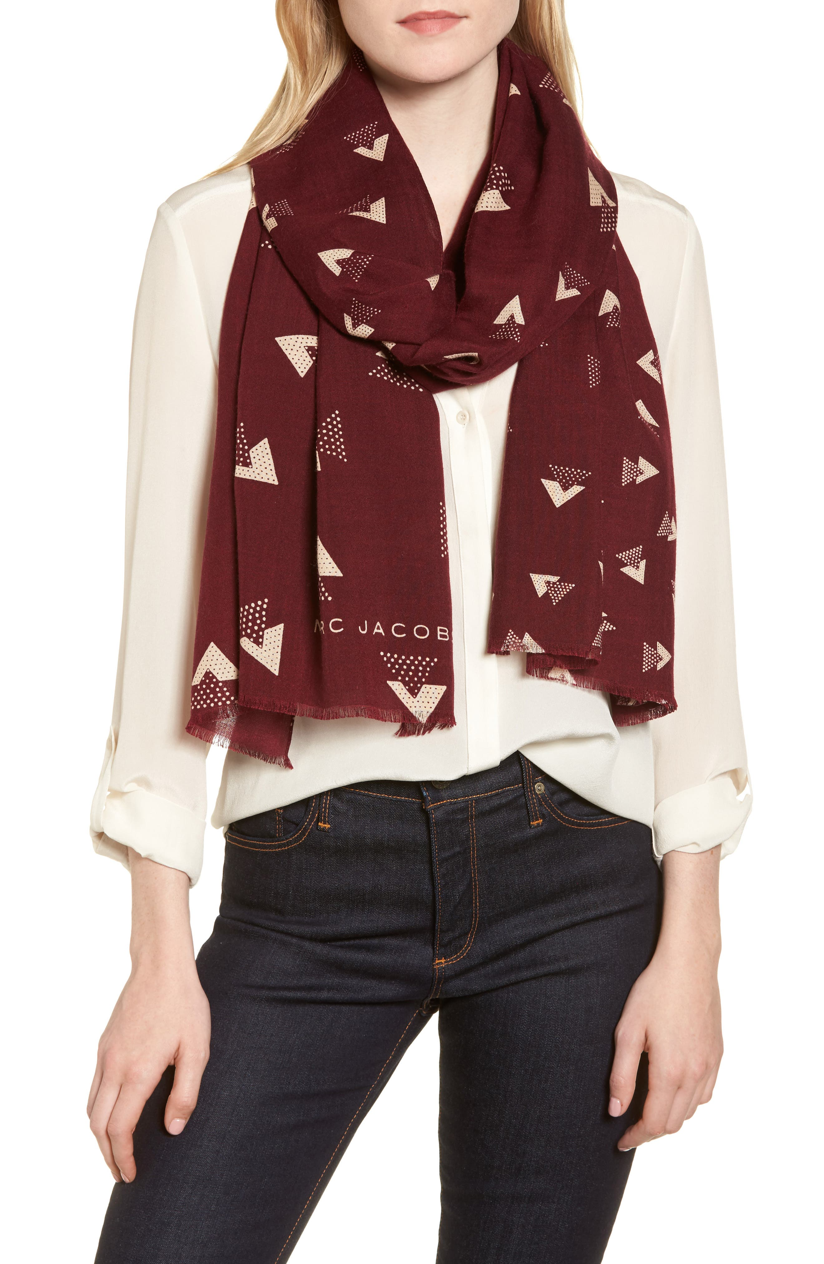Triangles Scarf,                             Alternate thumbnail 2, color,                             930