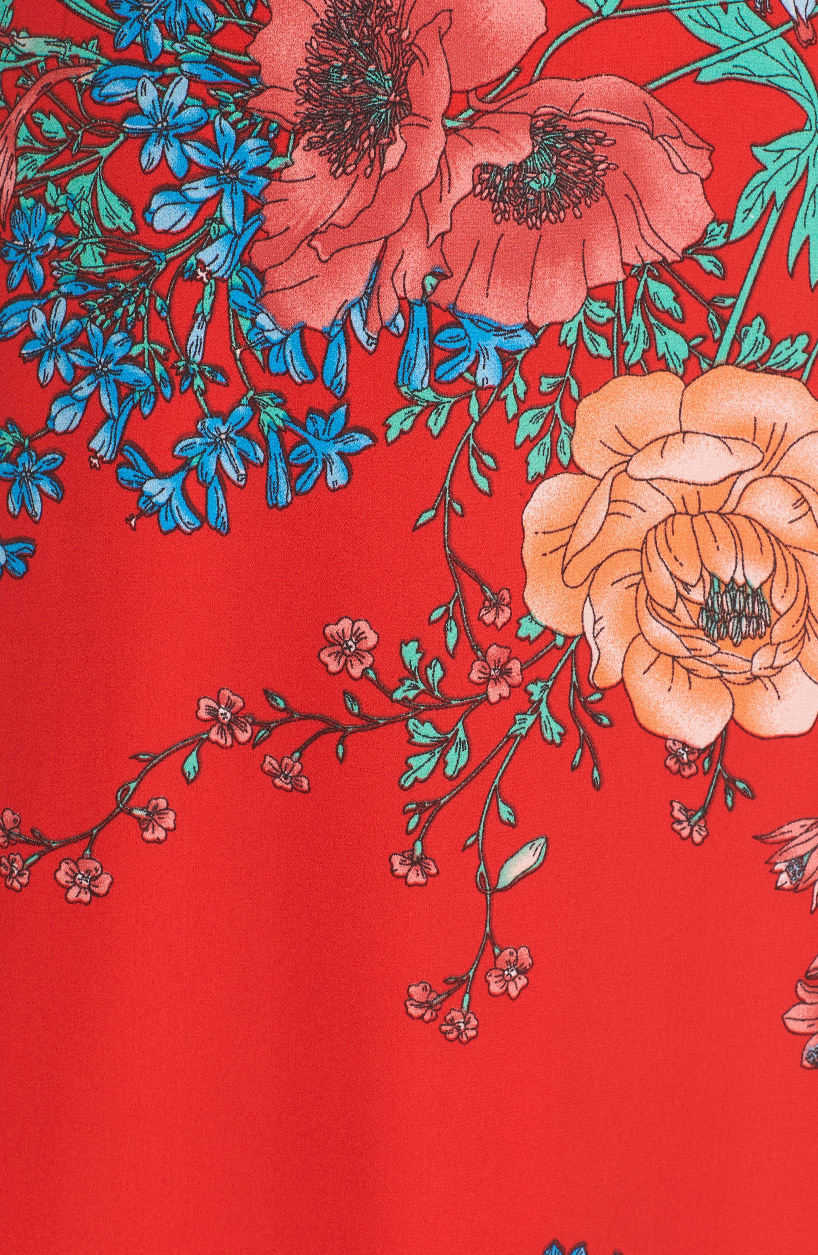 Cold Shoulder Midi Dress,                             Alternate thumbnail 5, color,                             610