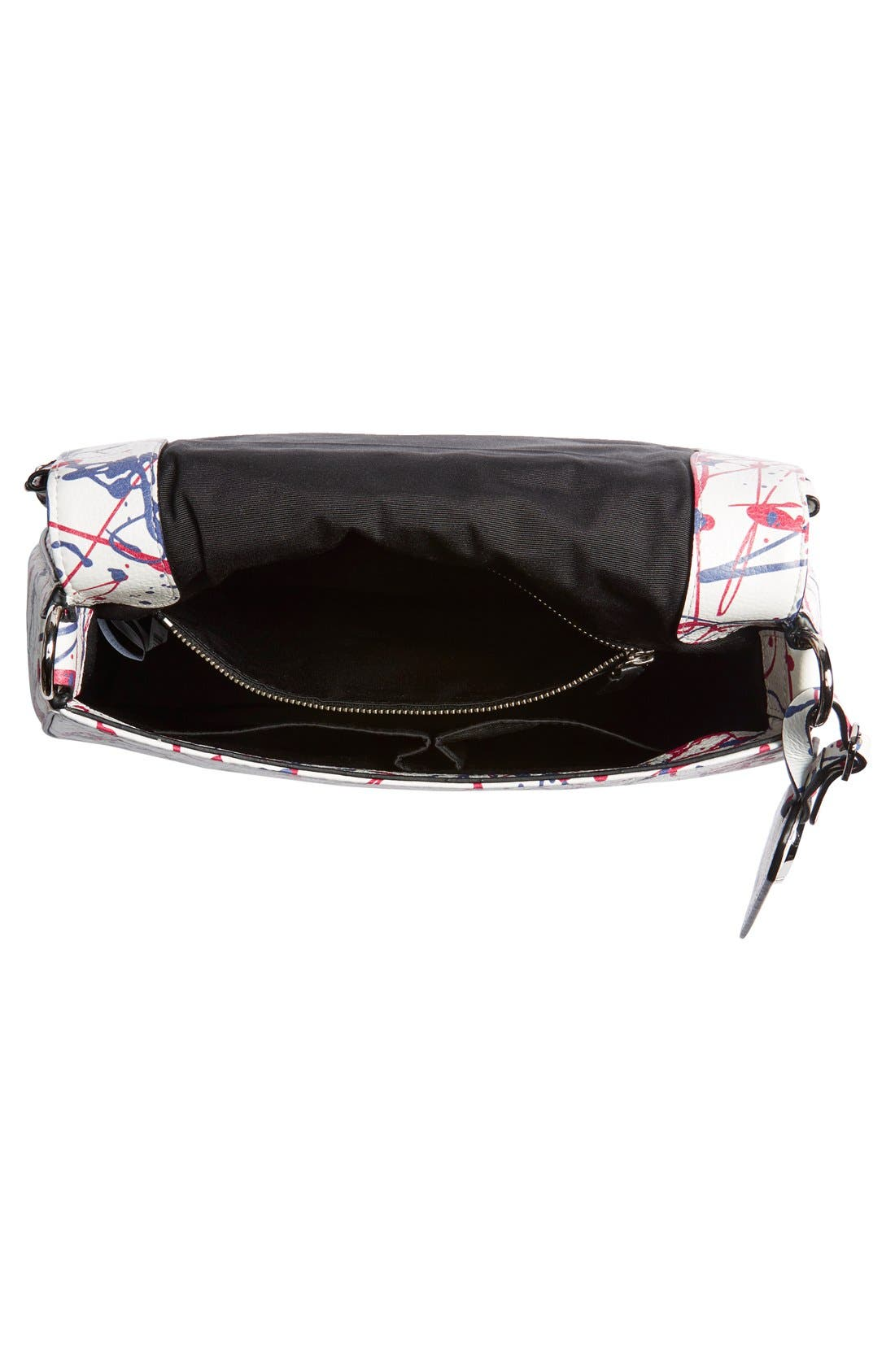 'Splatter Paint' Saddle Bag,                             Alternate thumbnail 5, color,                             100