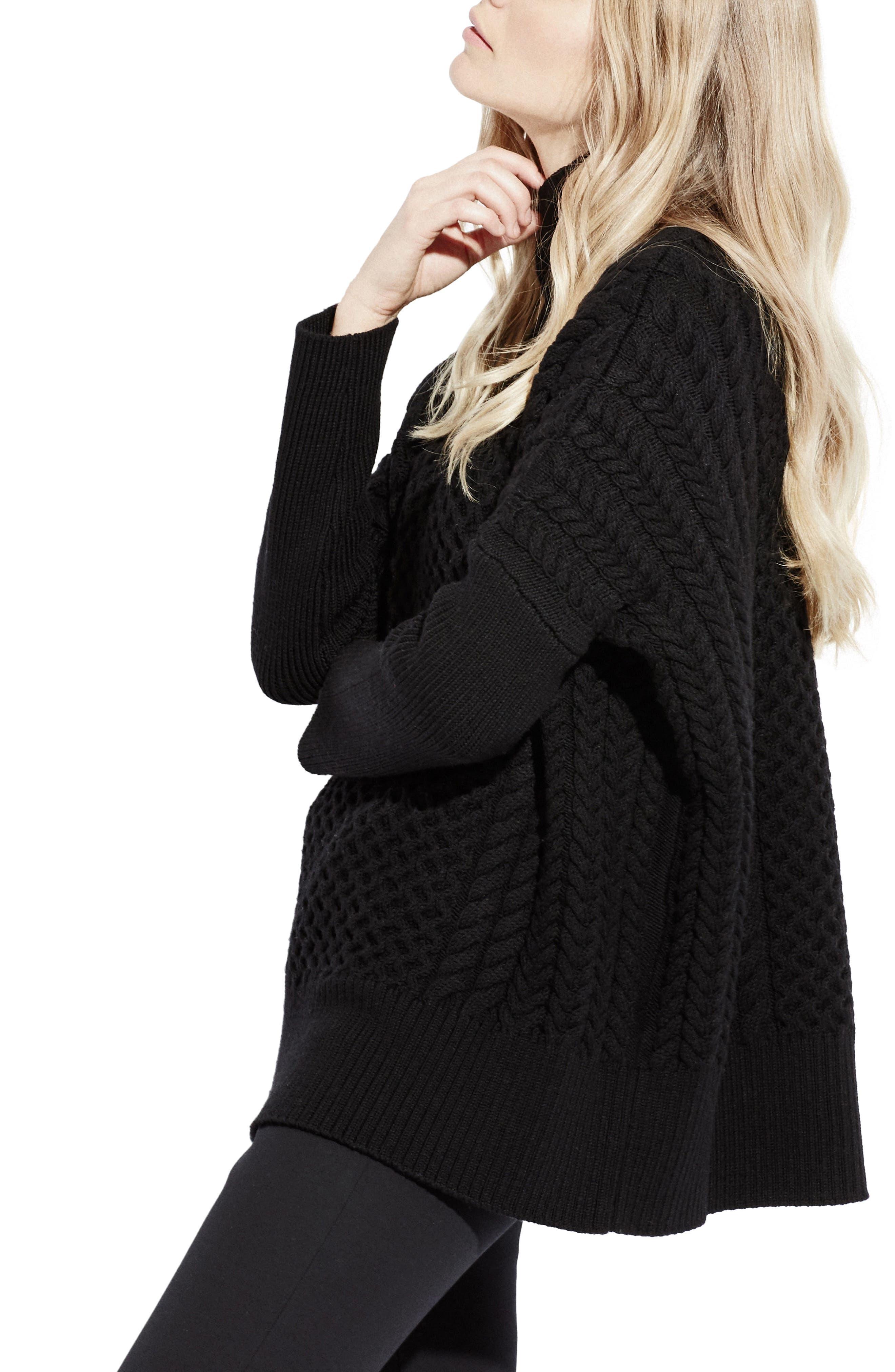 Le Square Turtleneck Sweater,                             Alternate thumbnail 3, color,                             001