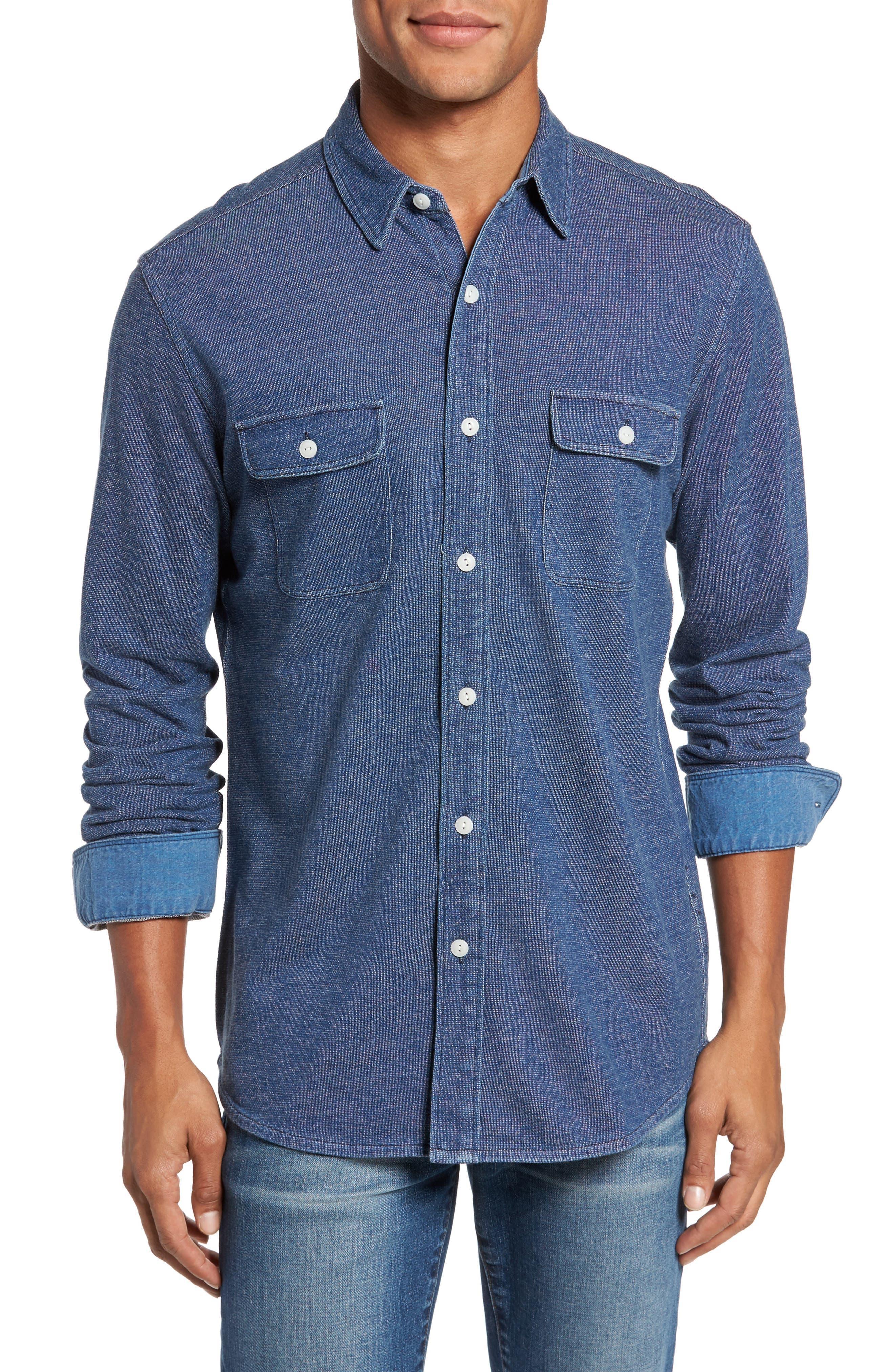 Belmar Knit Sport Shirt,                         Main,                         color, 404