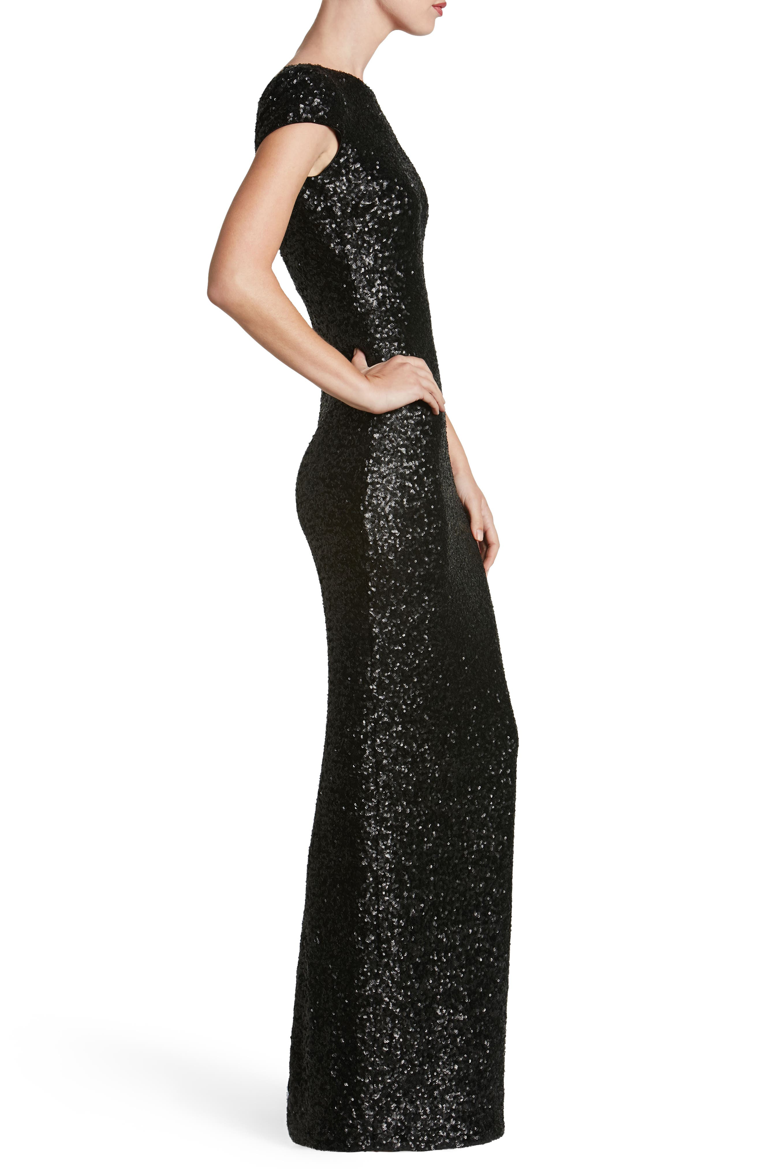 Teresa Body-Con Gown,                             Alternate thumbnail 19, color,