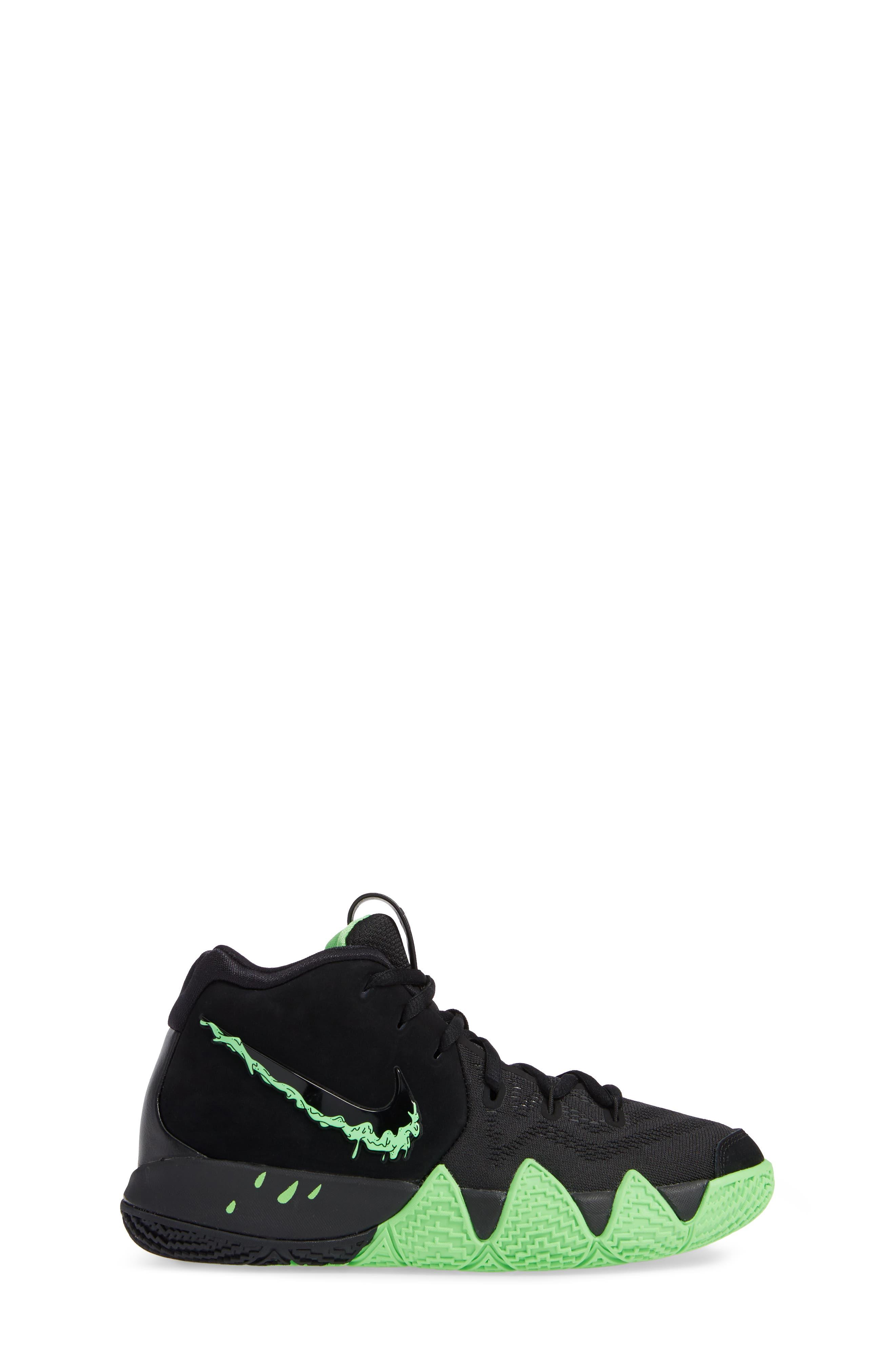 Kyrie 4 Basketball Shoe,                             Alternate thumbnail 3, color,                             BLACK/ RAGE GREEN
