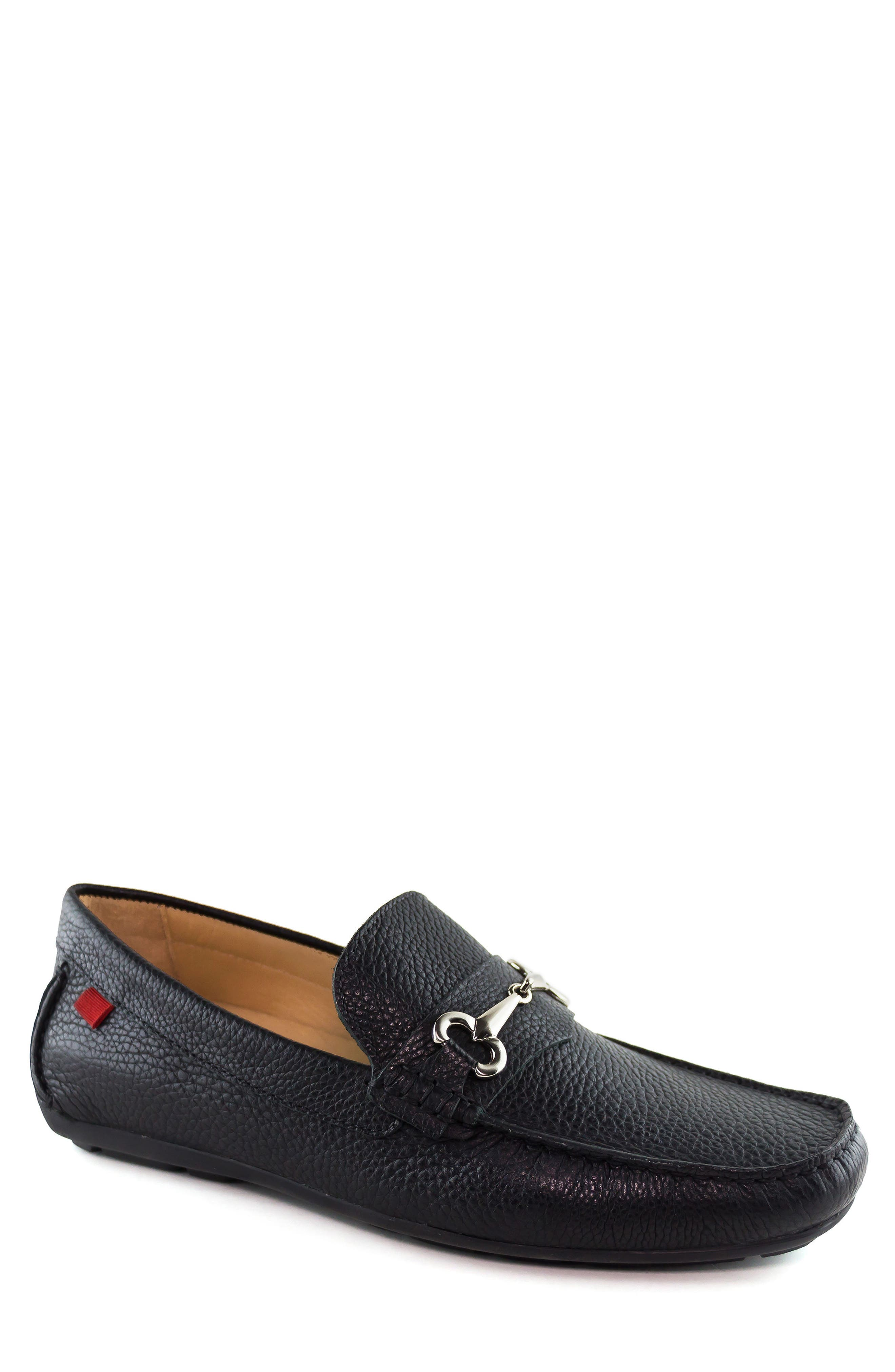 Wall Street Driving Shoe,                         Main,                         color, BLACK LEATHER