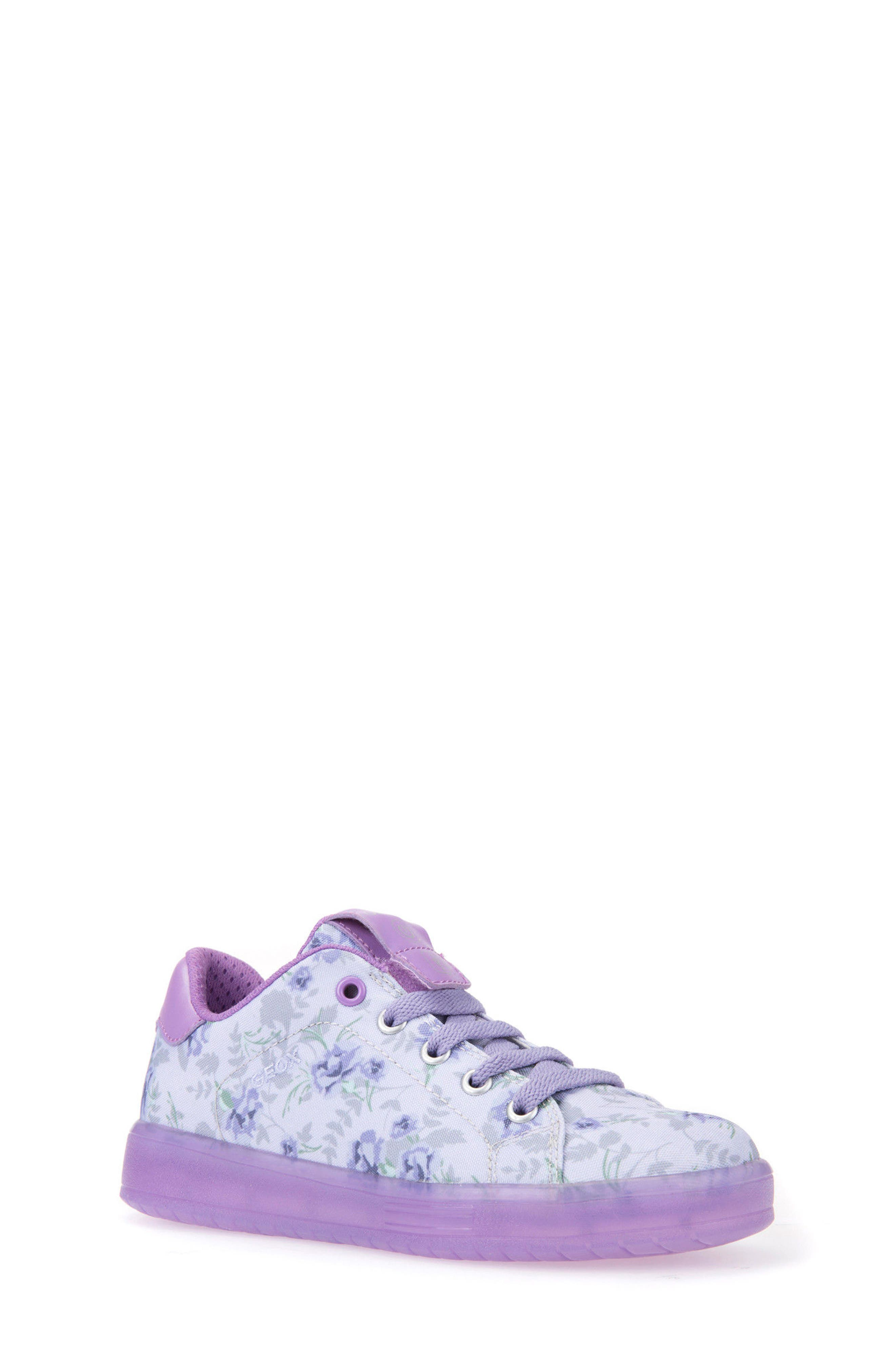 Kommodor Light-Up Sneaker,                         Main,                         color, LIGHT LILAC/ LILAC