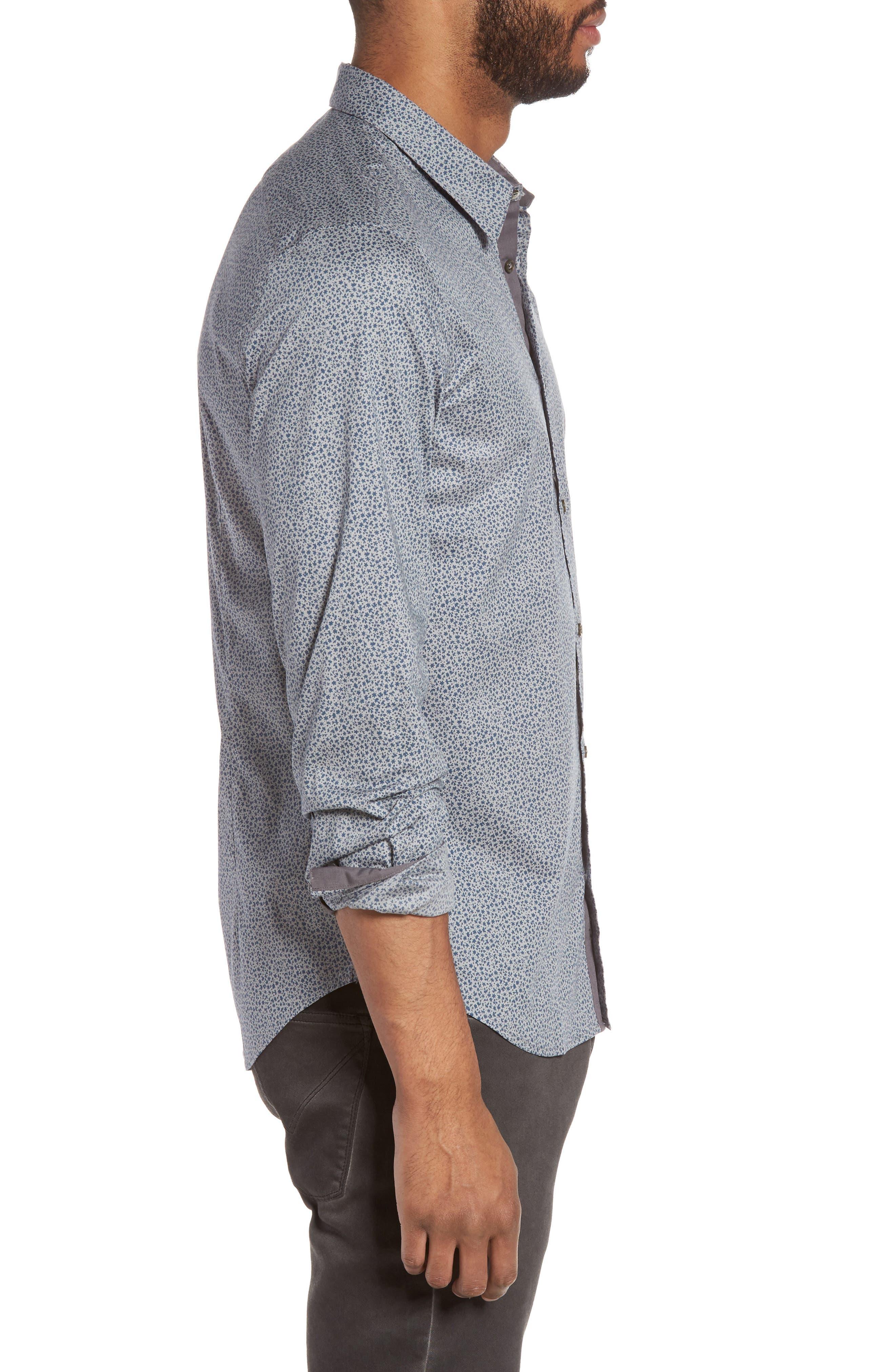 Slim Fit Print Sport Shirt,                             Alternate thumbnail 3, color,                             020