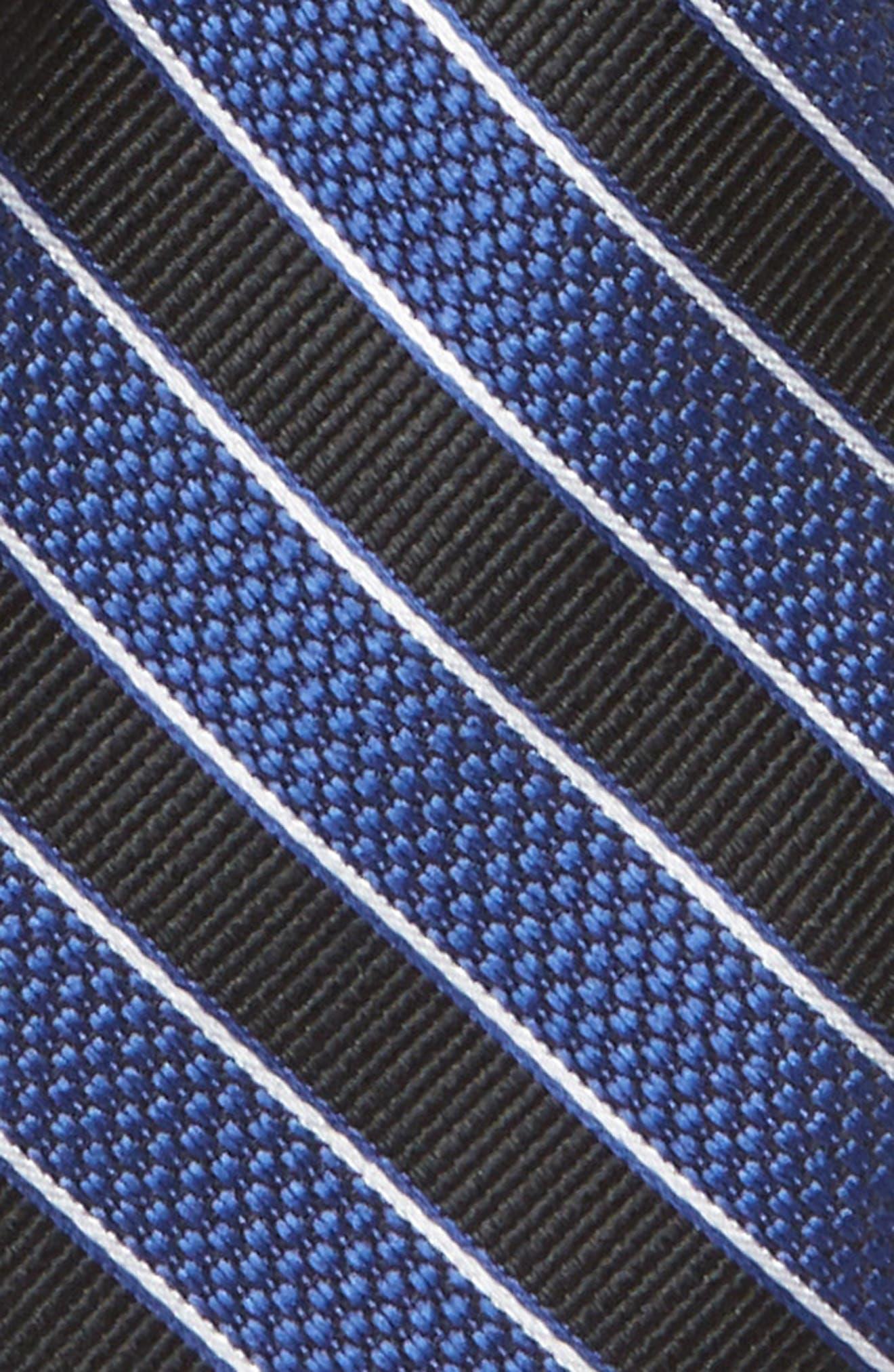 NORDSTROM,                             Stripe Silk Tie,                             Alternate thumbnail 2, color,                             001