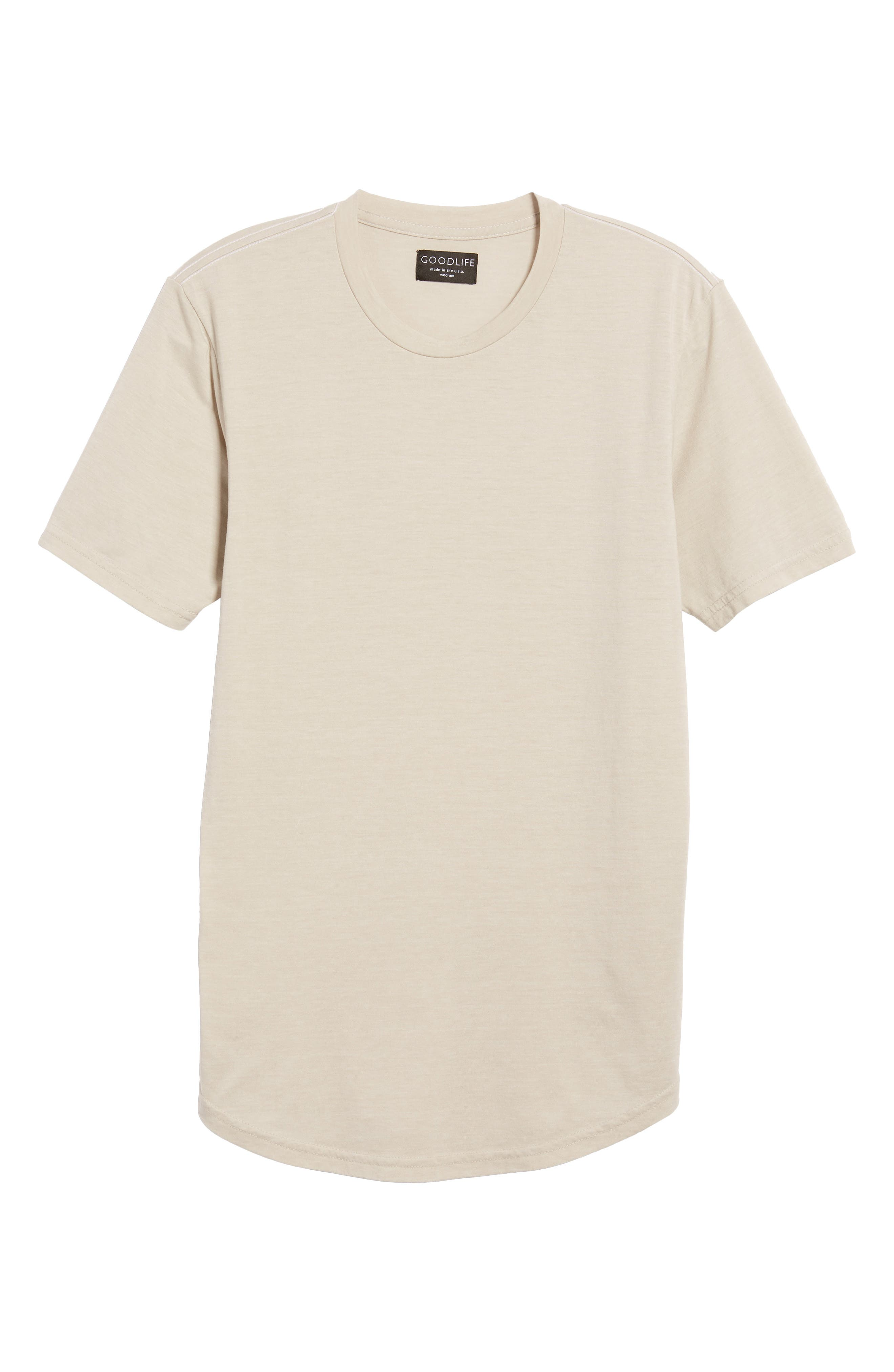 Scallop Triblend Crewneck T-Shirt,                             Alternate thumbnail 6, color,                             020