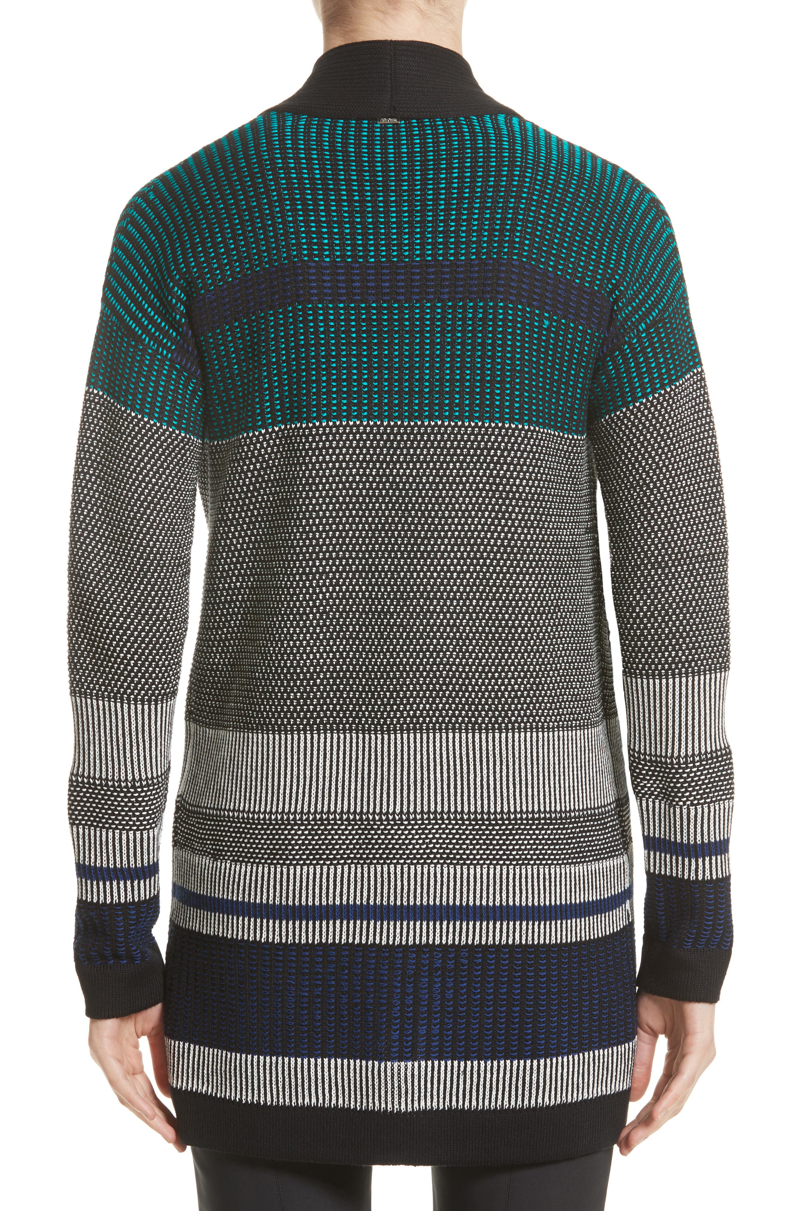 Engineered Inlay Stitch Knit Cardigan,                             Alternate thumbnail 2, color,                             020