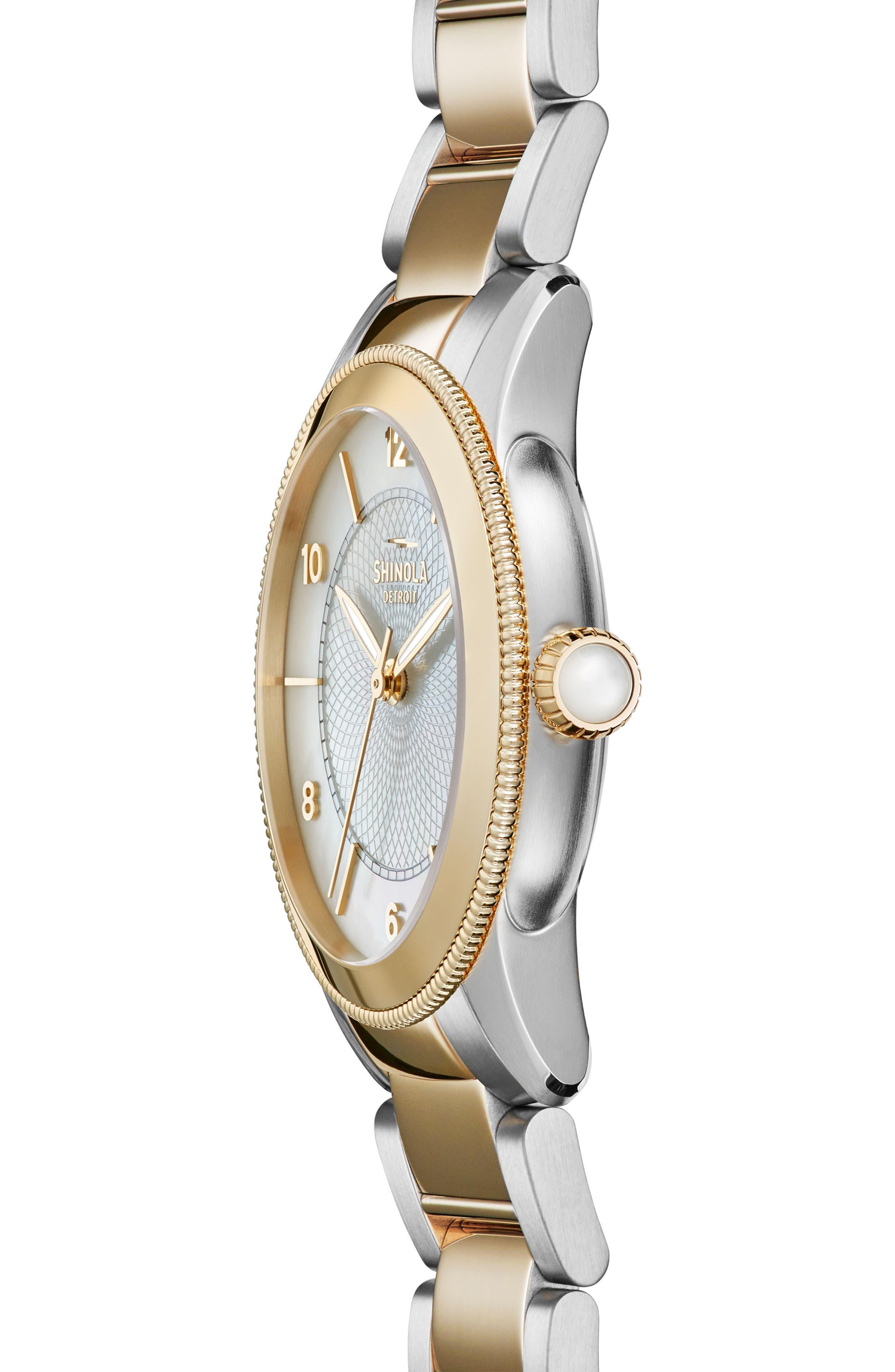 Gail Bracelet Watch, 36mm,                             Alternate thumbnail 3, color,                             710