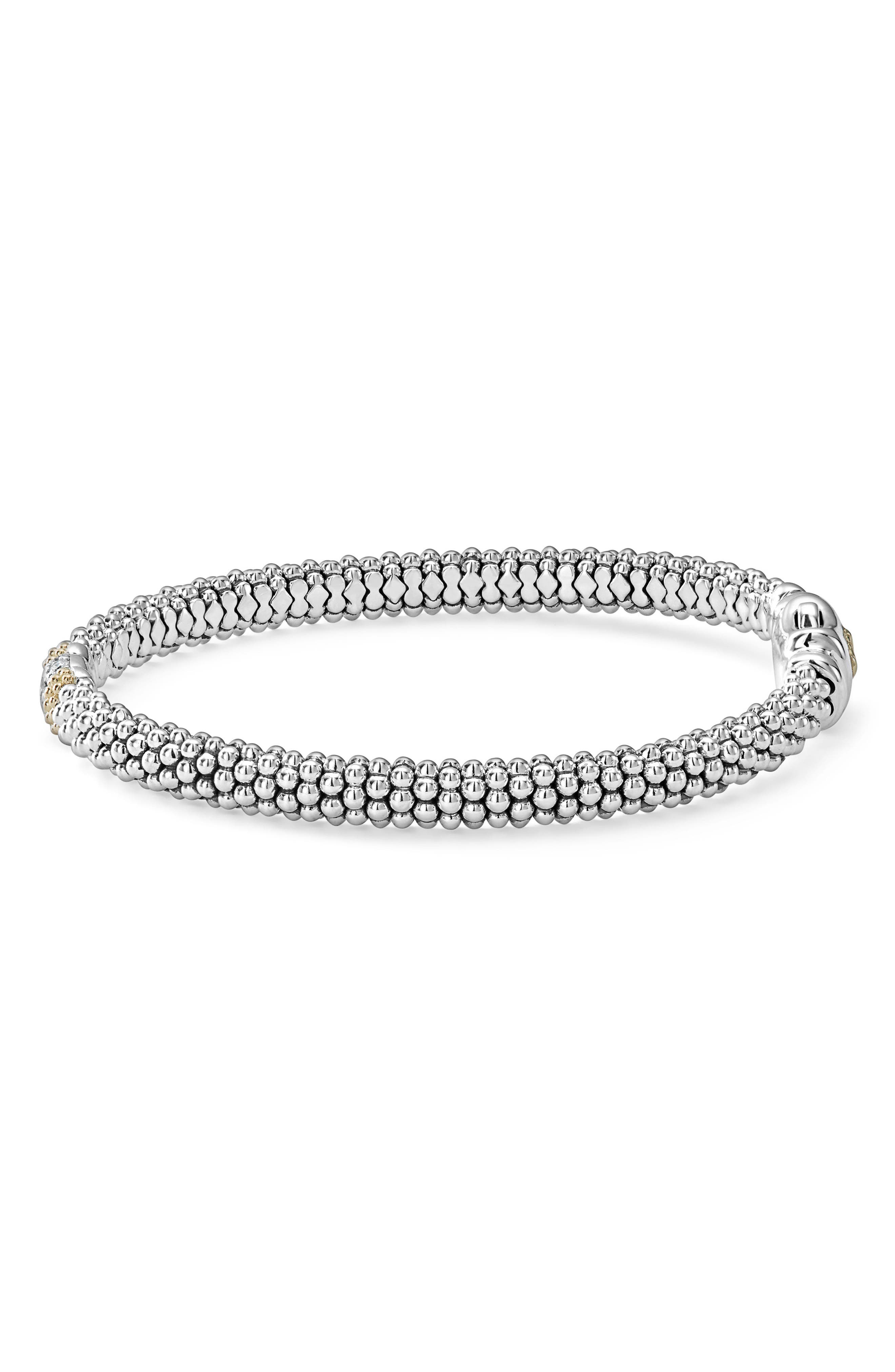 Diamond Lux Pavé Station 6mm Bracelet,                             Alternate thumbnail 4, color,                             DIAMOND