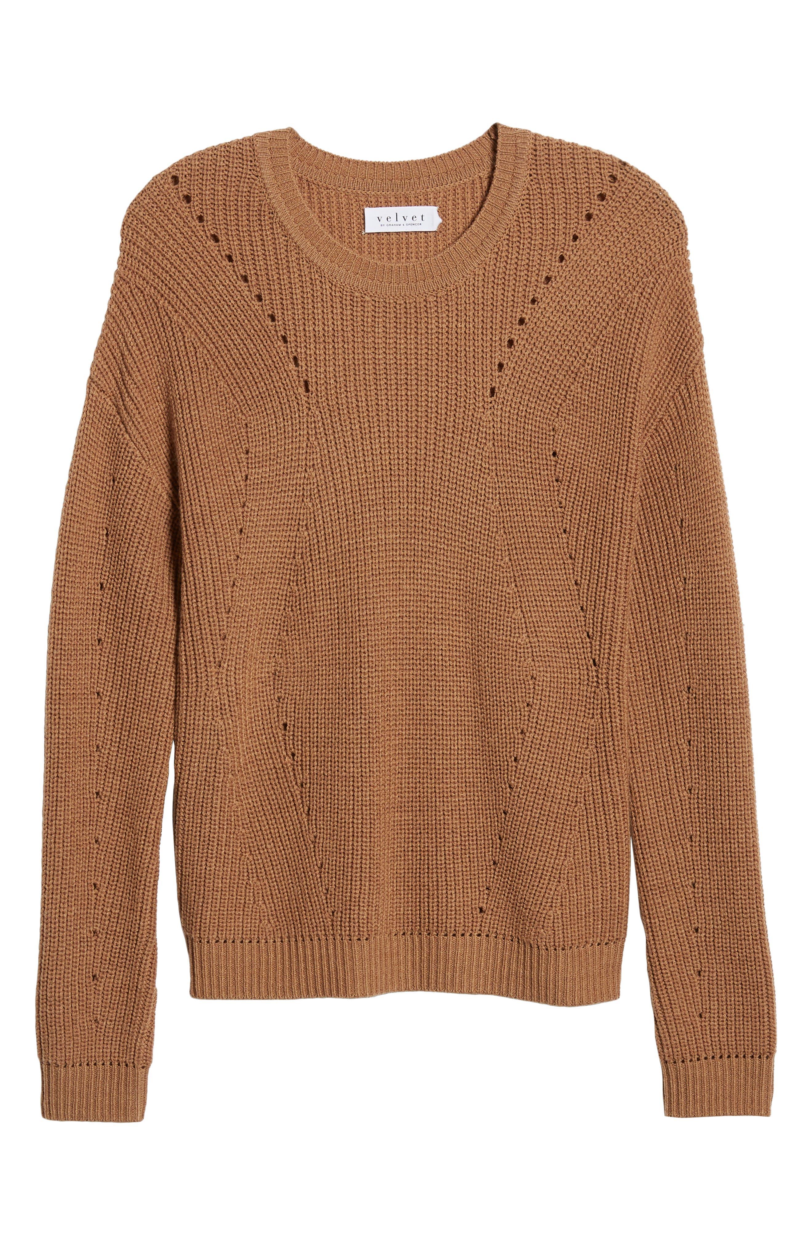 Crewneck Sweater,                             Alternate thumbnail 6, color,                             BRONZE