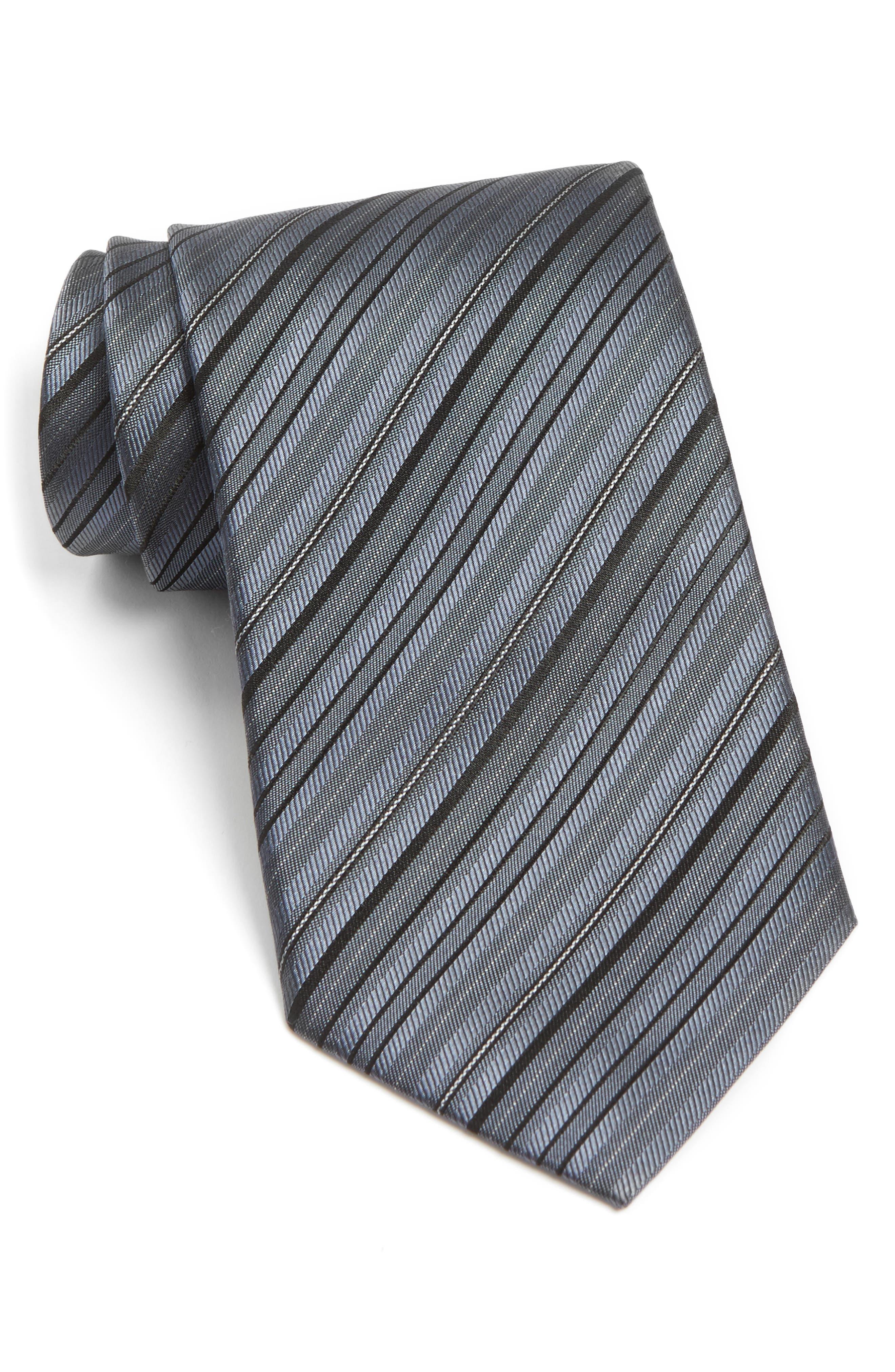 Stripe Silk Tie,                             Main thumbnail 1, color,                             027