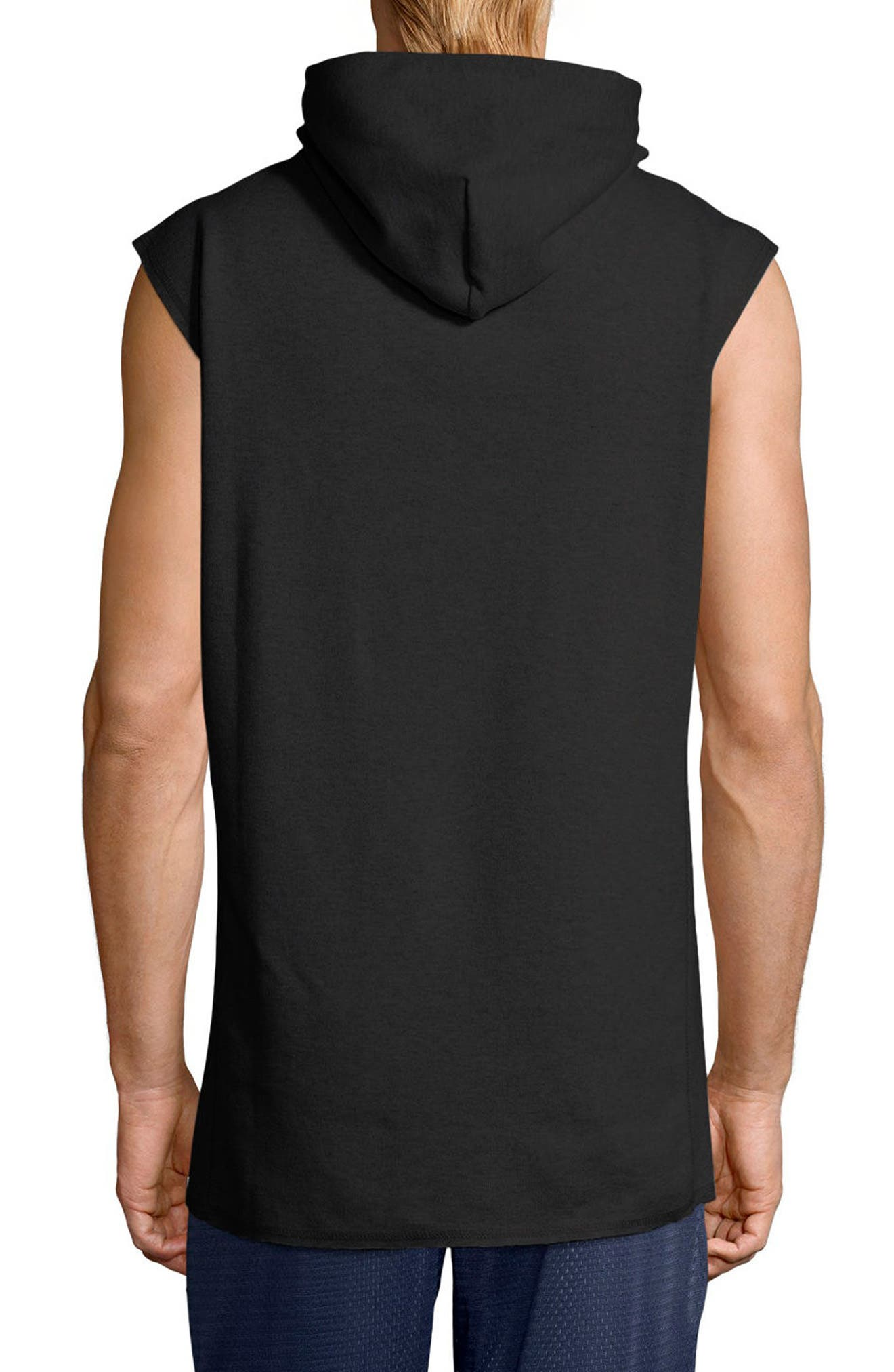 Sleeveless Hoodie,                             Alternate thumbnail 2, color,                             001