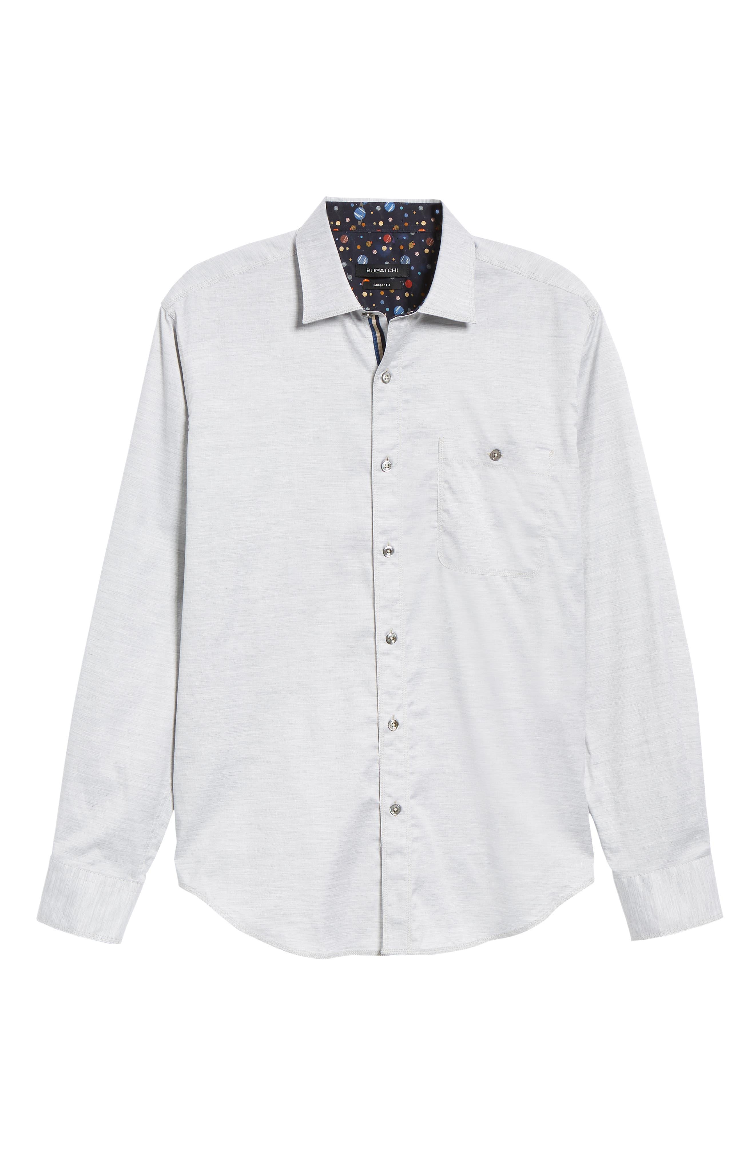 Shaped Fit Sport Shirt,                             Alternate thumbnail 5, color,                             SAND