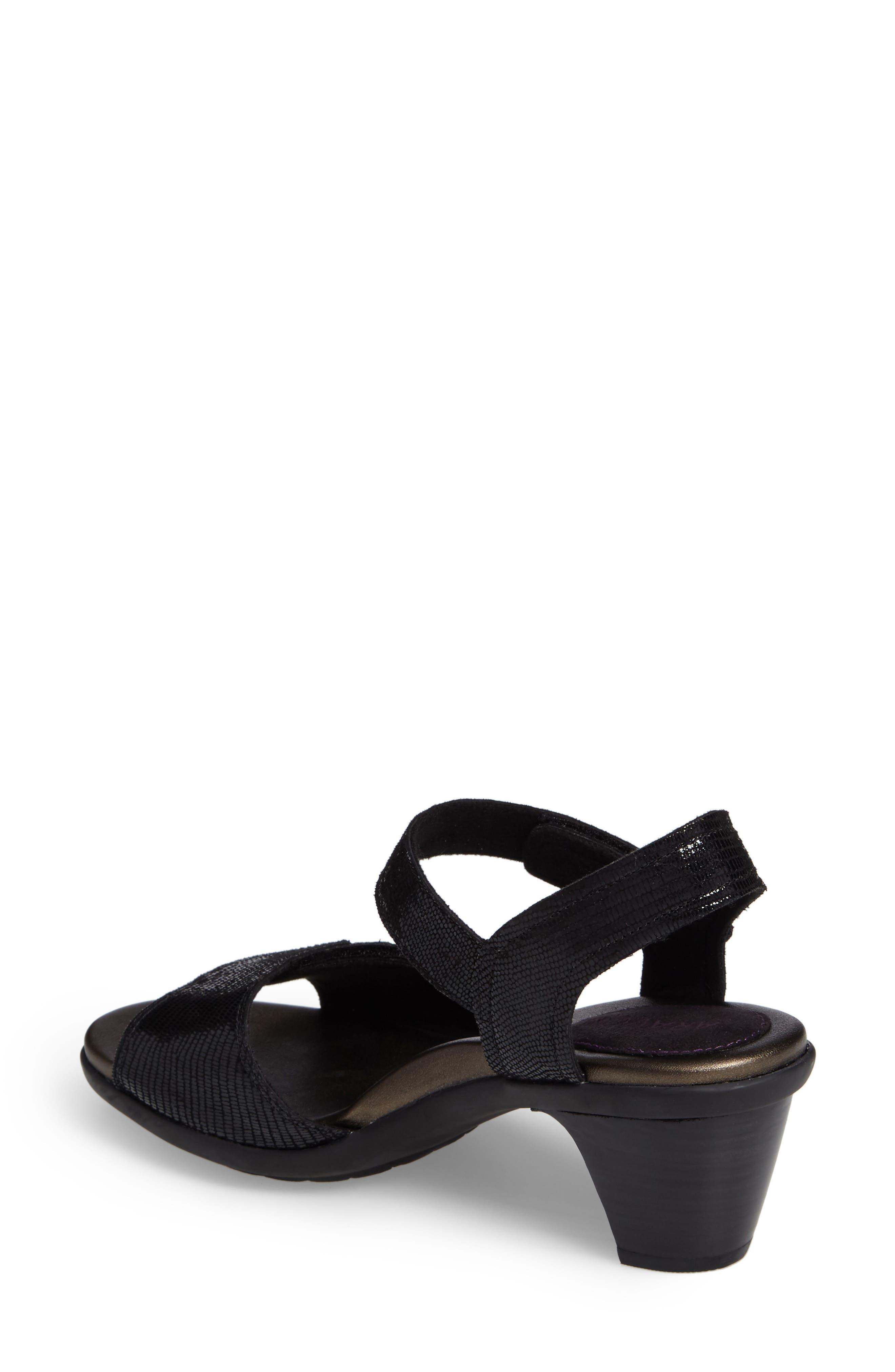 Medici Sandal,                             Alternate thumbnail 2, color,                             BLACK FABRIC