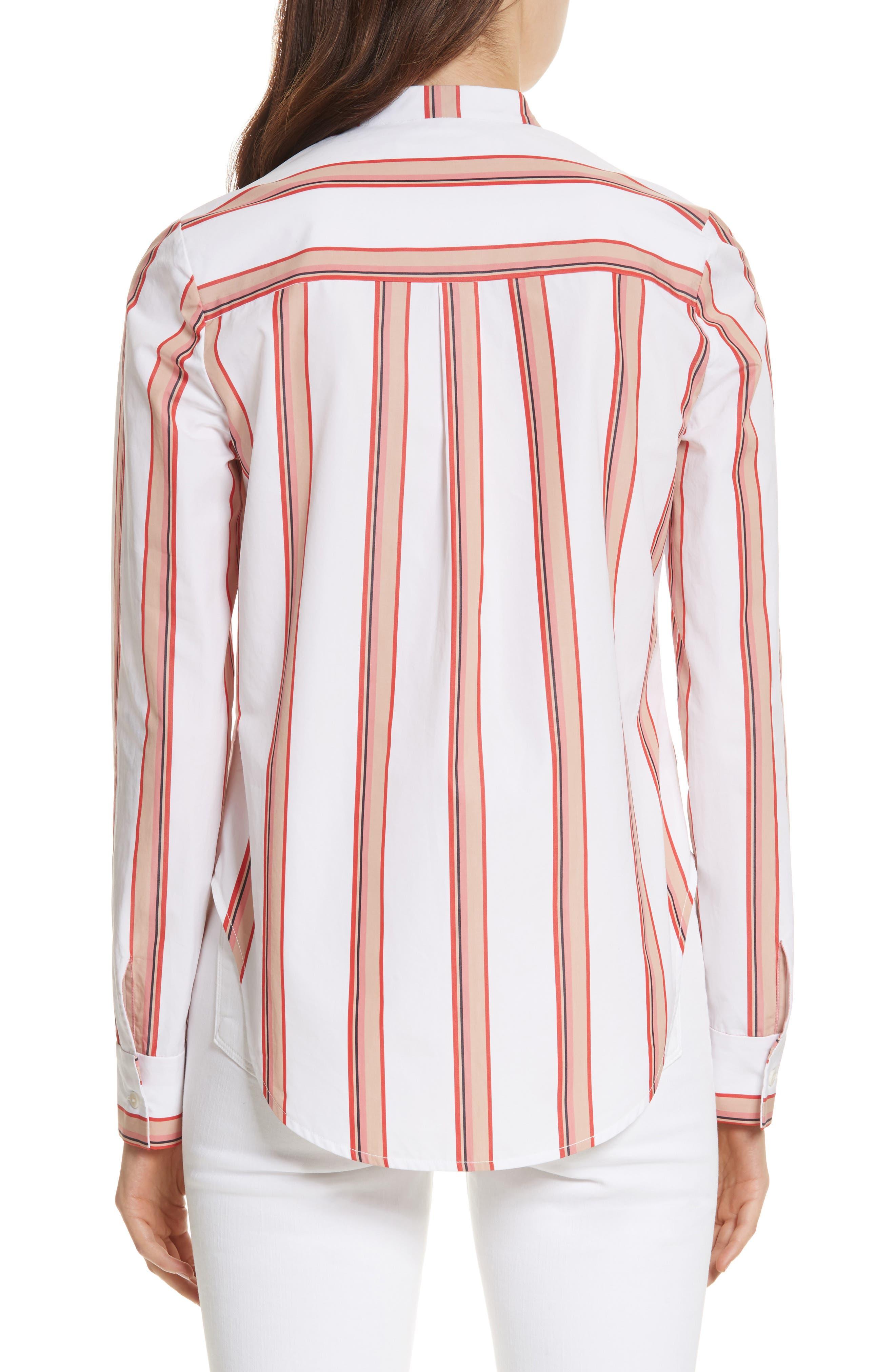 Diane von Furstenberg Stripe Shirt,                             Alternate thumbnail 2, color,                             107