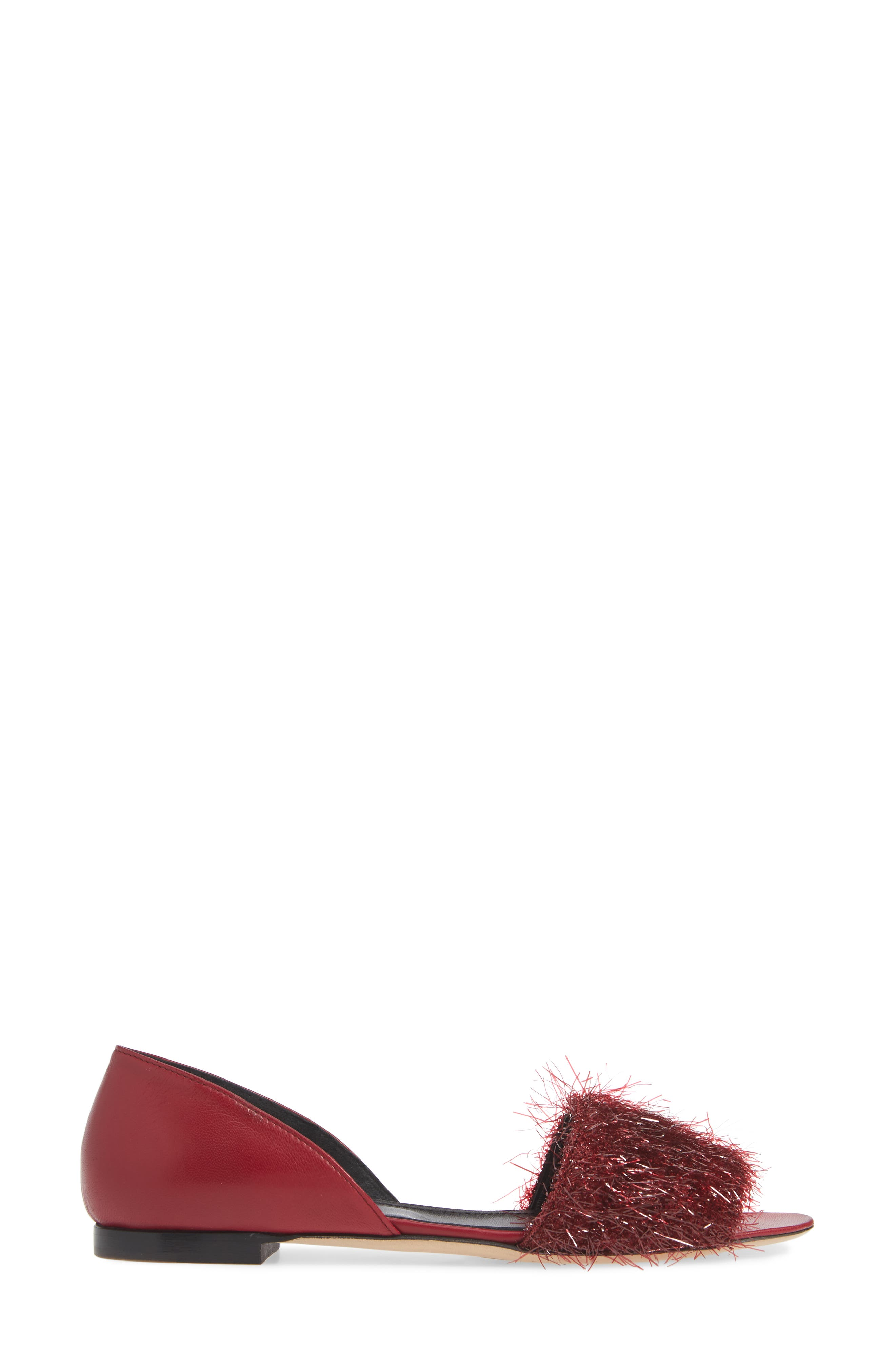 Tinsel d'Orsay Sandal,                             Alternate thumbnail 3, color,                             RED WINE