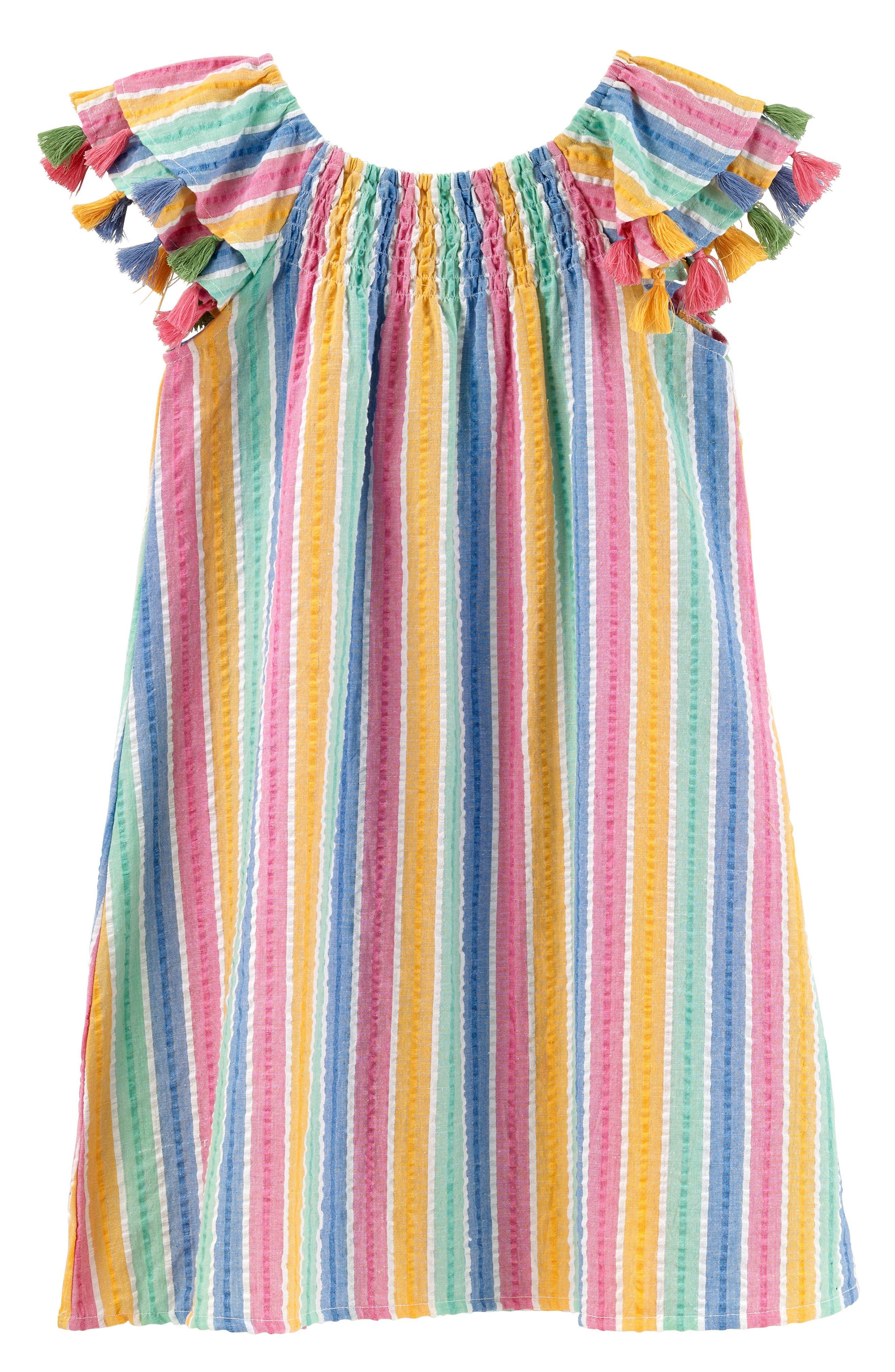 Sundancer Stripe Cotton Dress,                             Main thumbnail 1, color,                             400